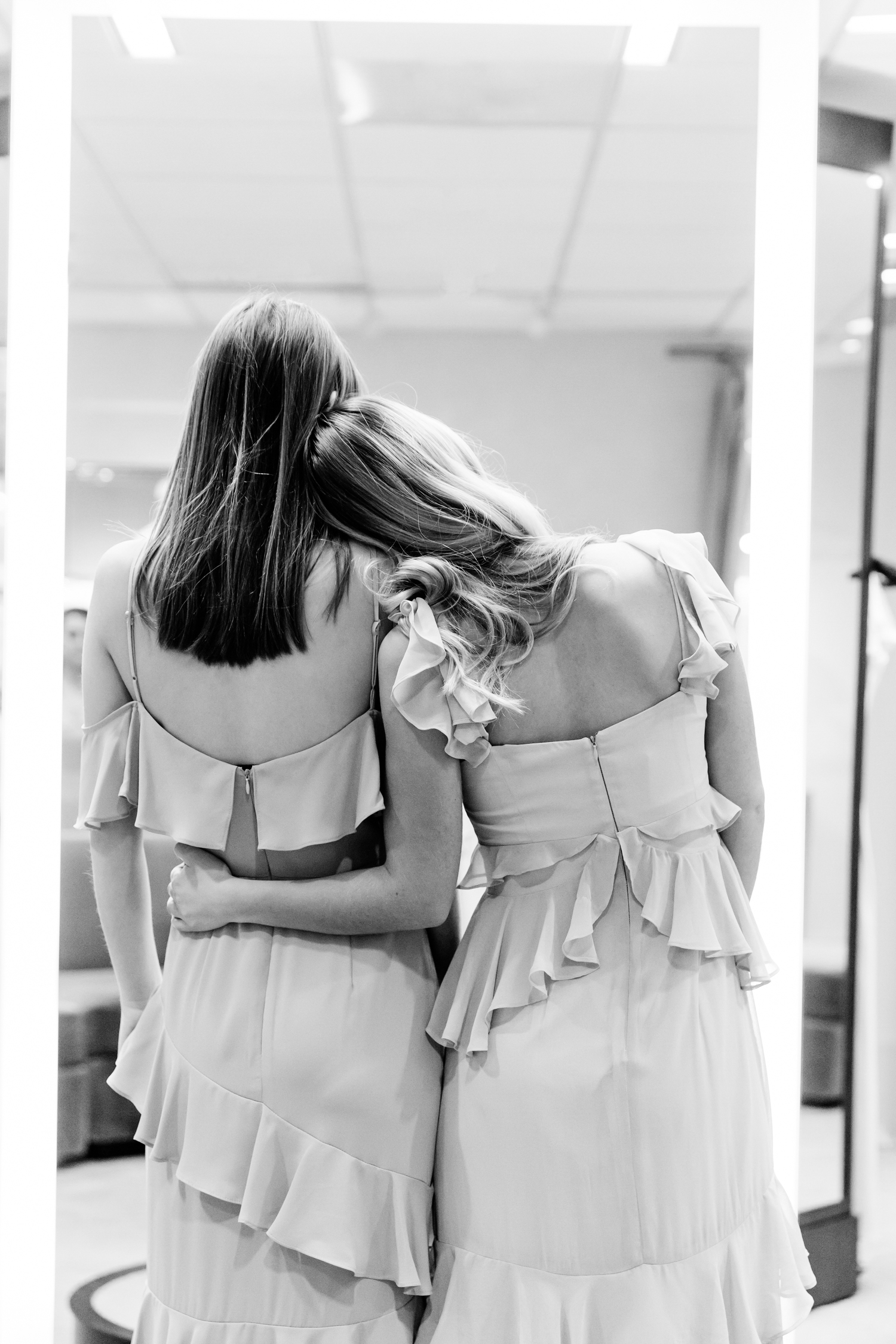 Ruffle details on WAYF Bridesmaid Dresses