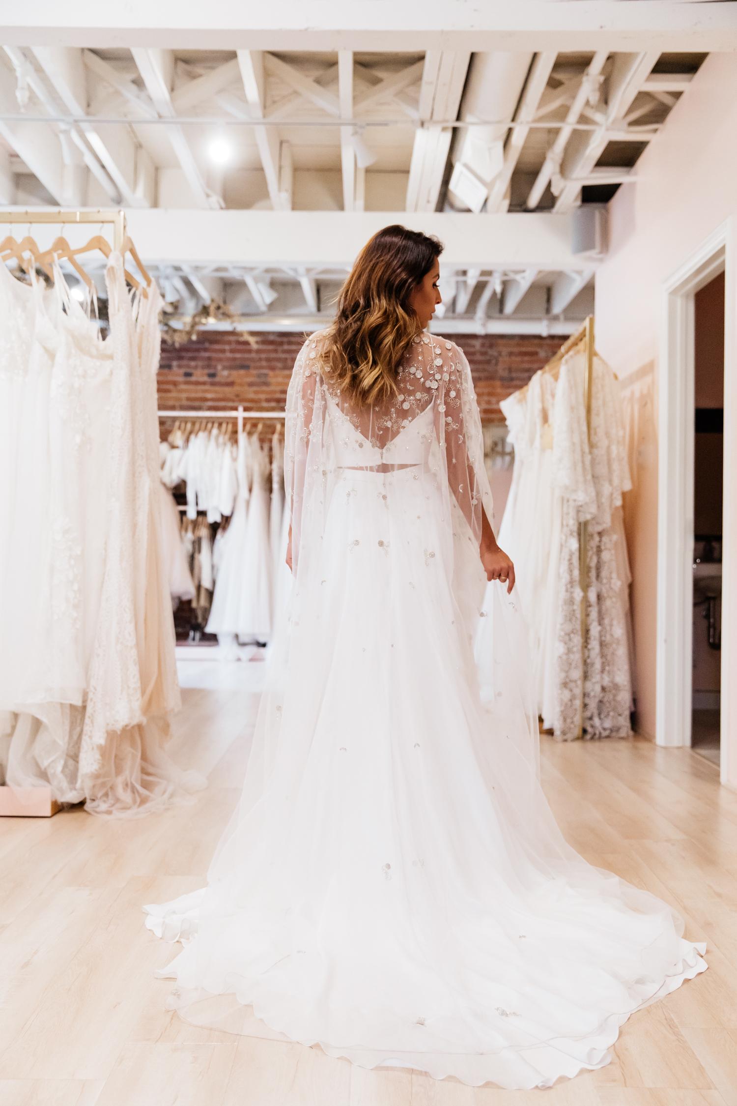 Alexandra Grecco Luna Cape  - Lovely Bride Los Angeles