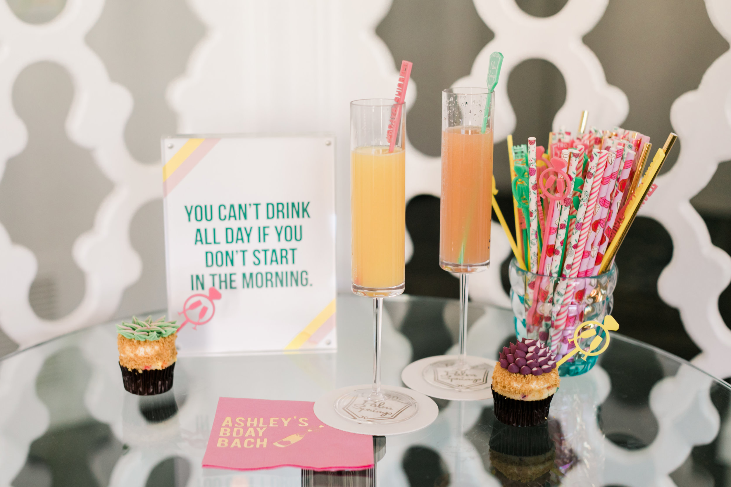 Bloody Mary + Mimosa Bar - Palm Springs Bachelorette