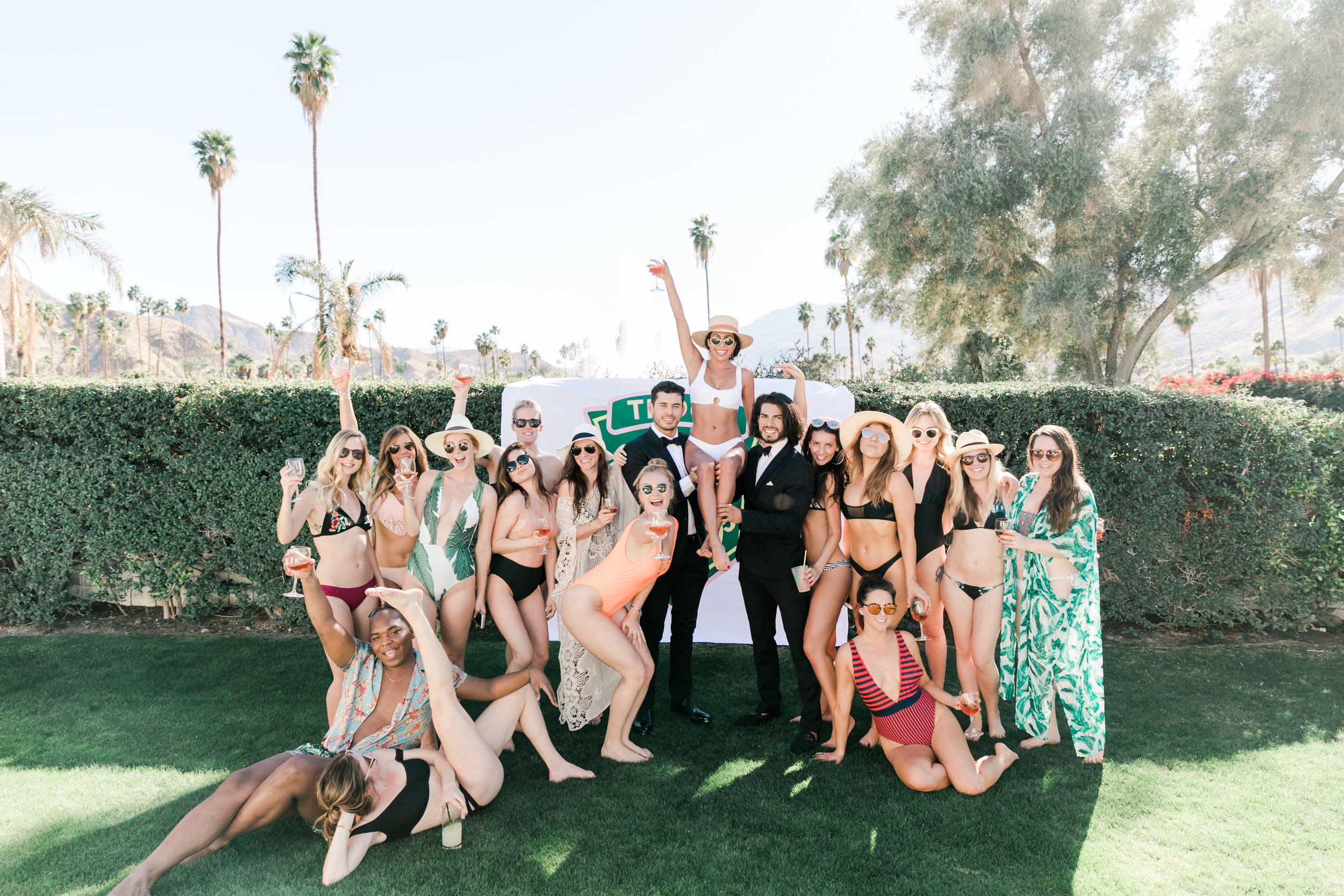 Manservants at Palm Springs Bachelorette Party