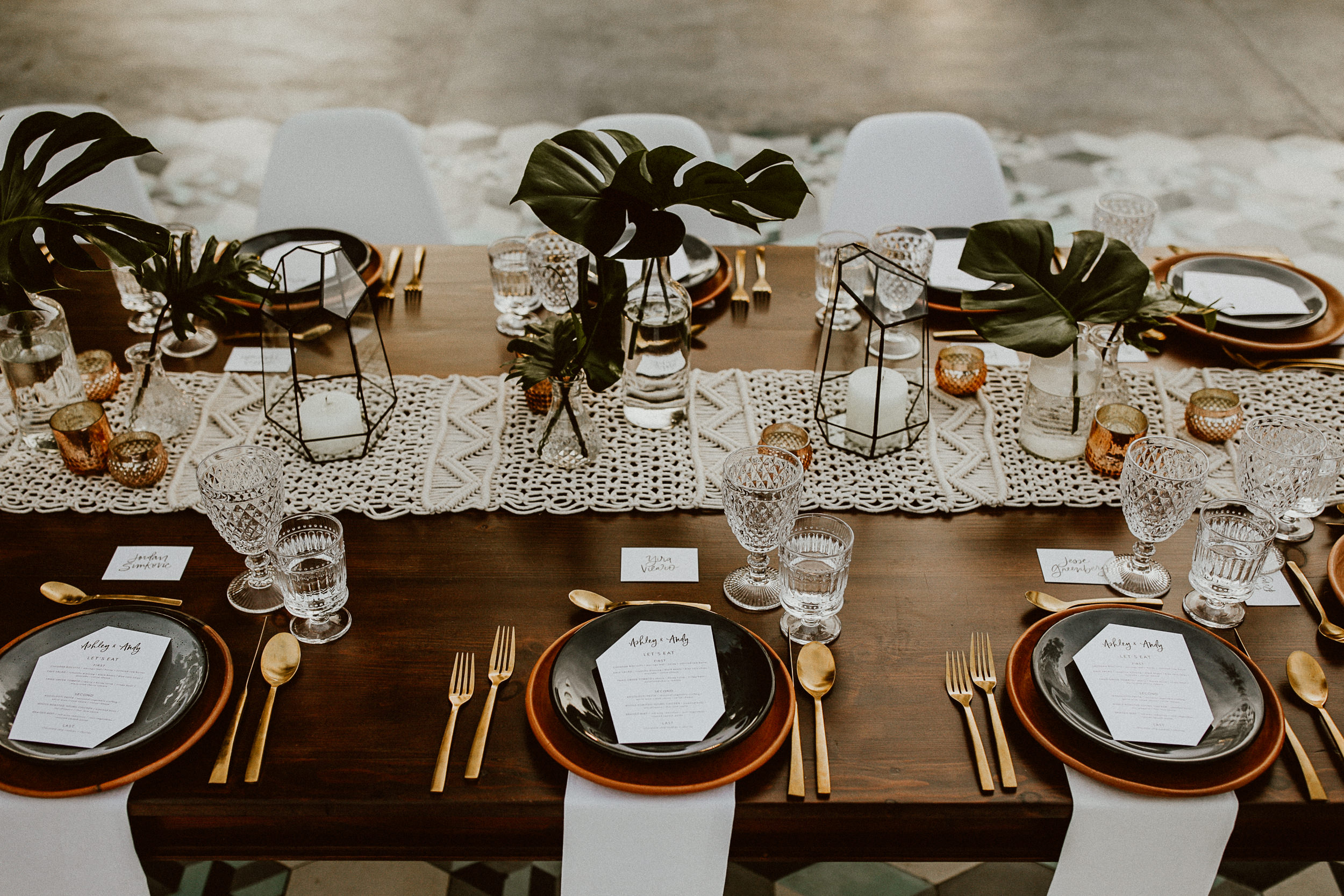 Boho Wedding Tablescape - Mexico Vibes for Everyday Pursuits Wedding - Baja Boutique Rentals - Amy Abbott Events