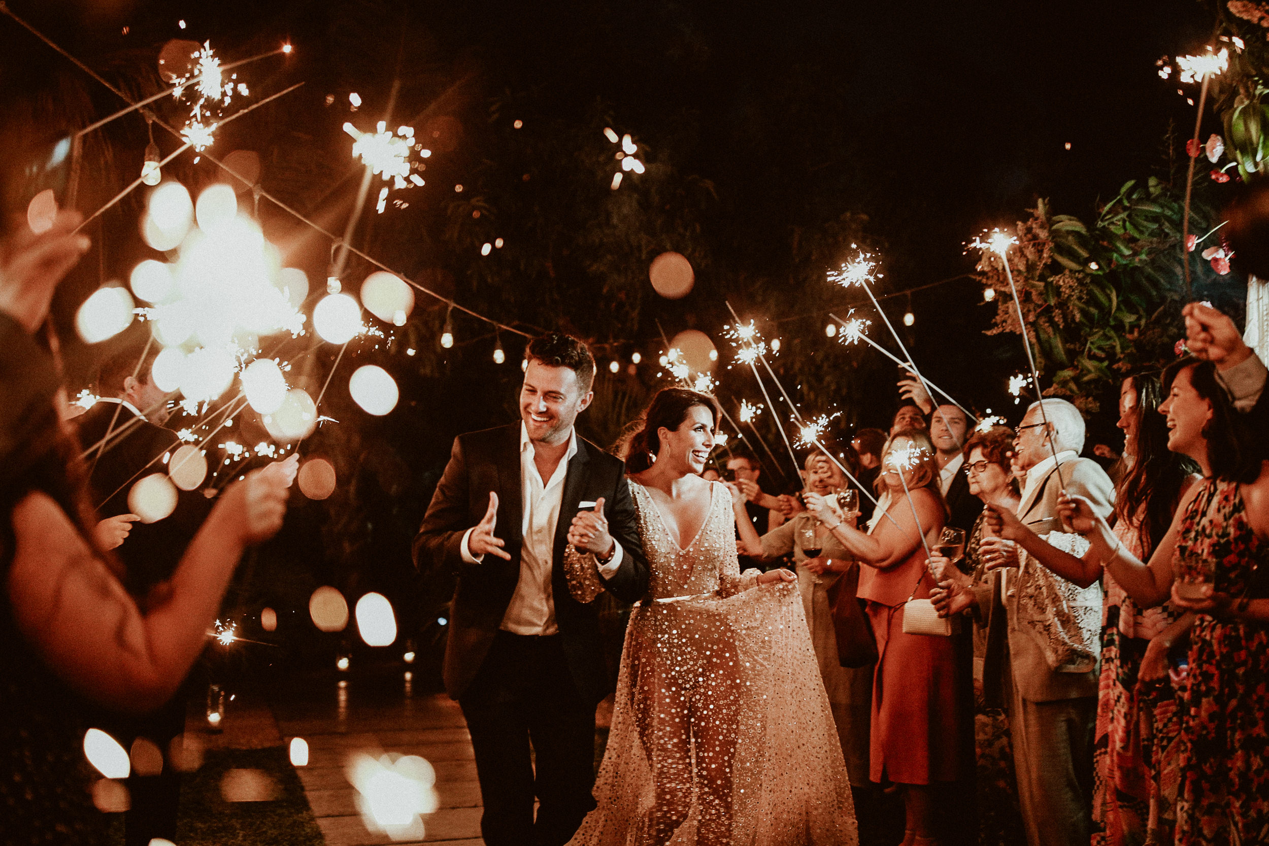 Wedding Entrance Song - Sparklers at Everyday Pursuits Wedding in Los Cabos, Mexico