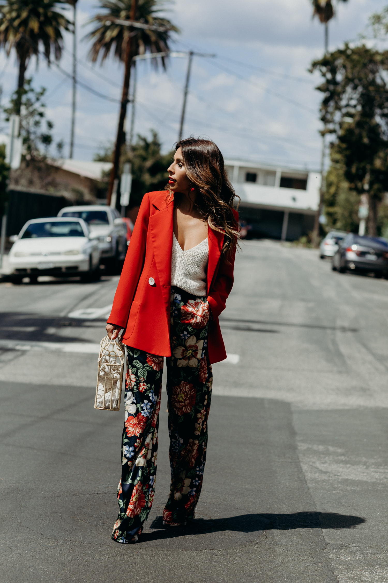 Everyday Pursuit Oversized Red Blazer - Spring Outfit Inspiration for Dove Campaign
