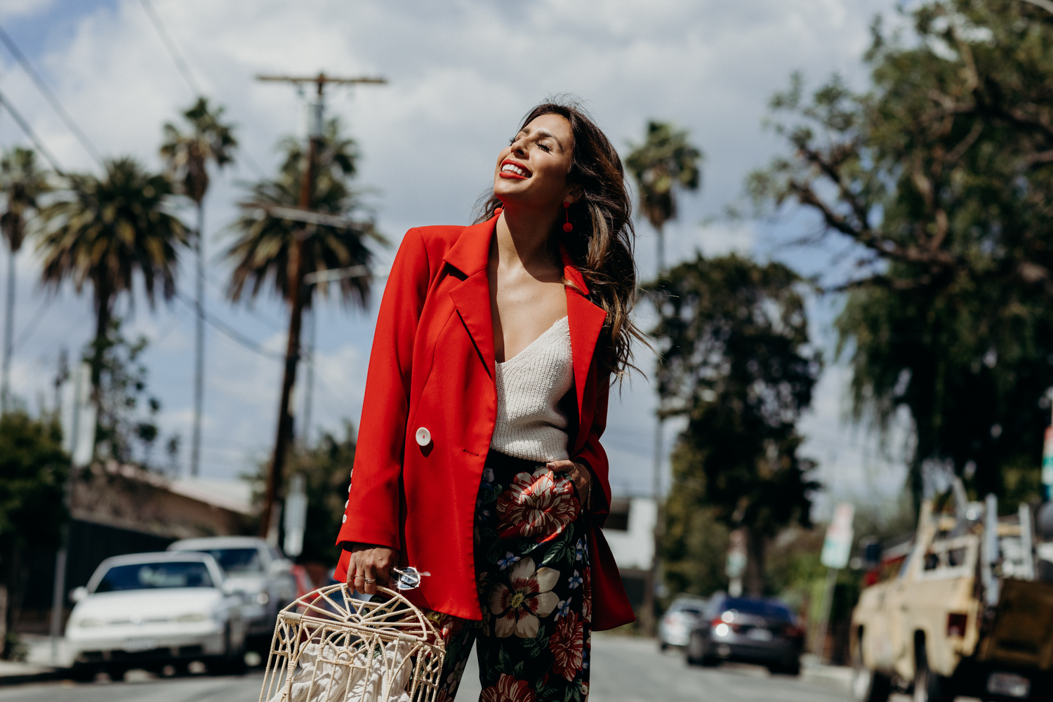 How to wear a red blazer for spring - Dove Campaign