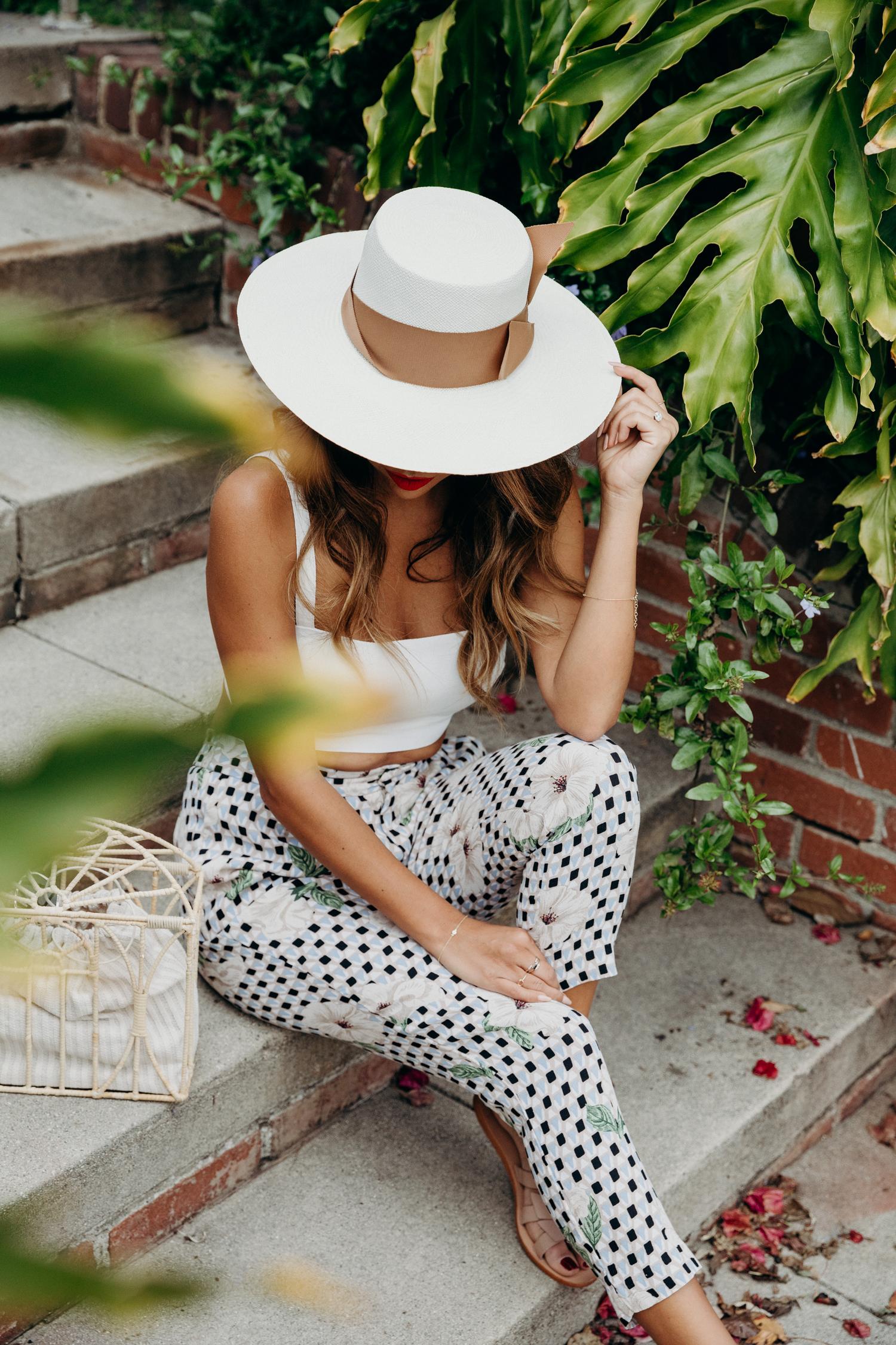 Honeymoon outfit ideas - Belize + Mexico - Sensi Panama Hat