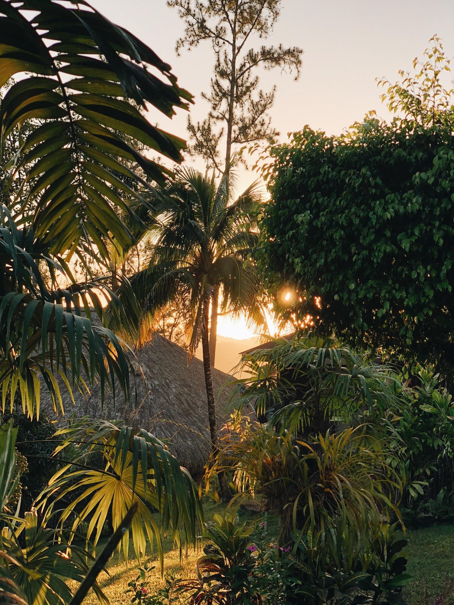 Sunset at GAIA Riverlodge - Belize