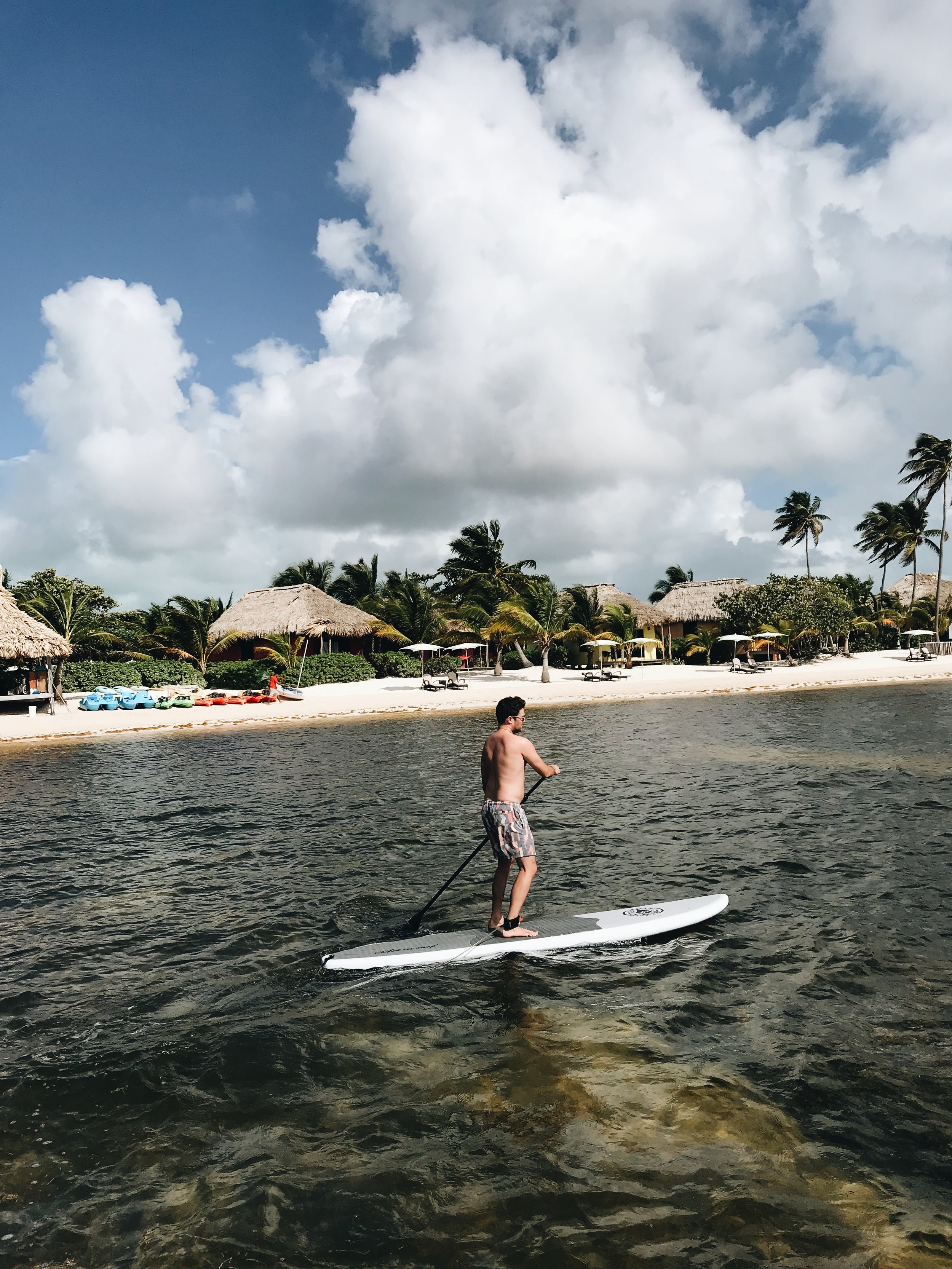 Paddle Boarding at Matachica Resort, Belize