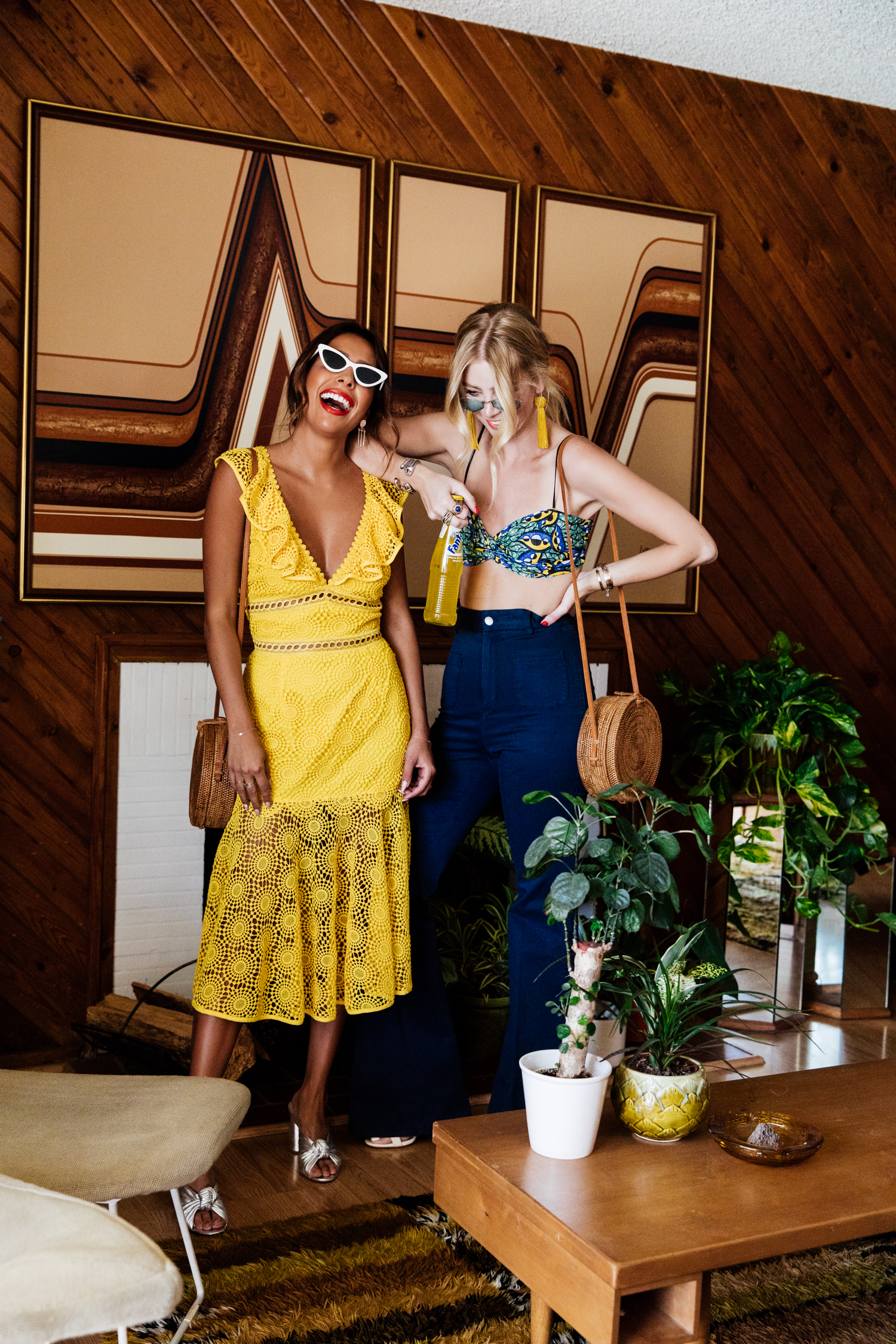 Everyday Pursuits in yellow Saylor dress and Minimal Major in Zara Crop top