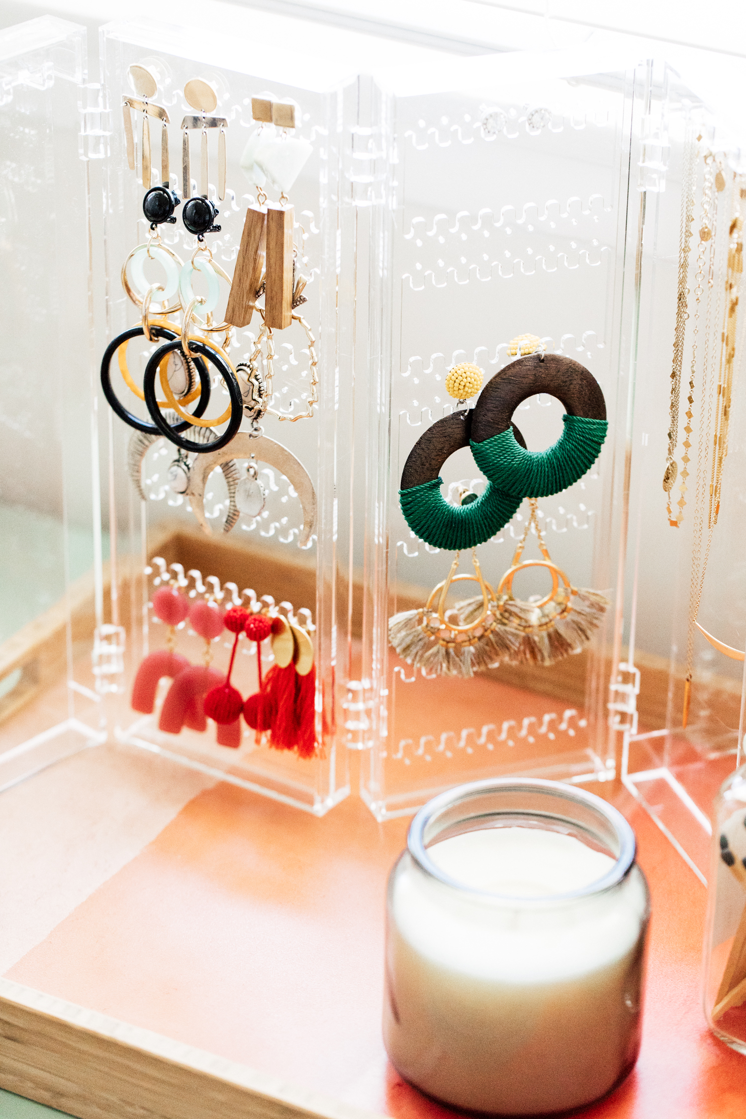 Earrings + Necklace Organizer from The Container Store