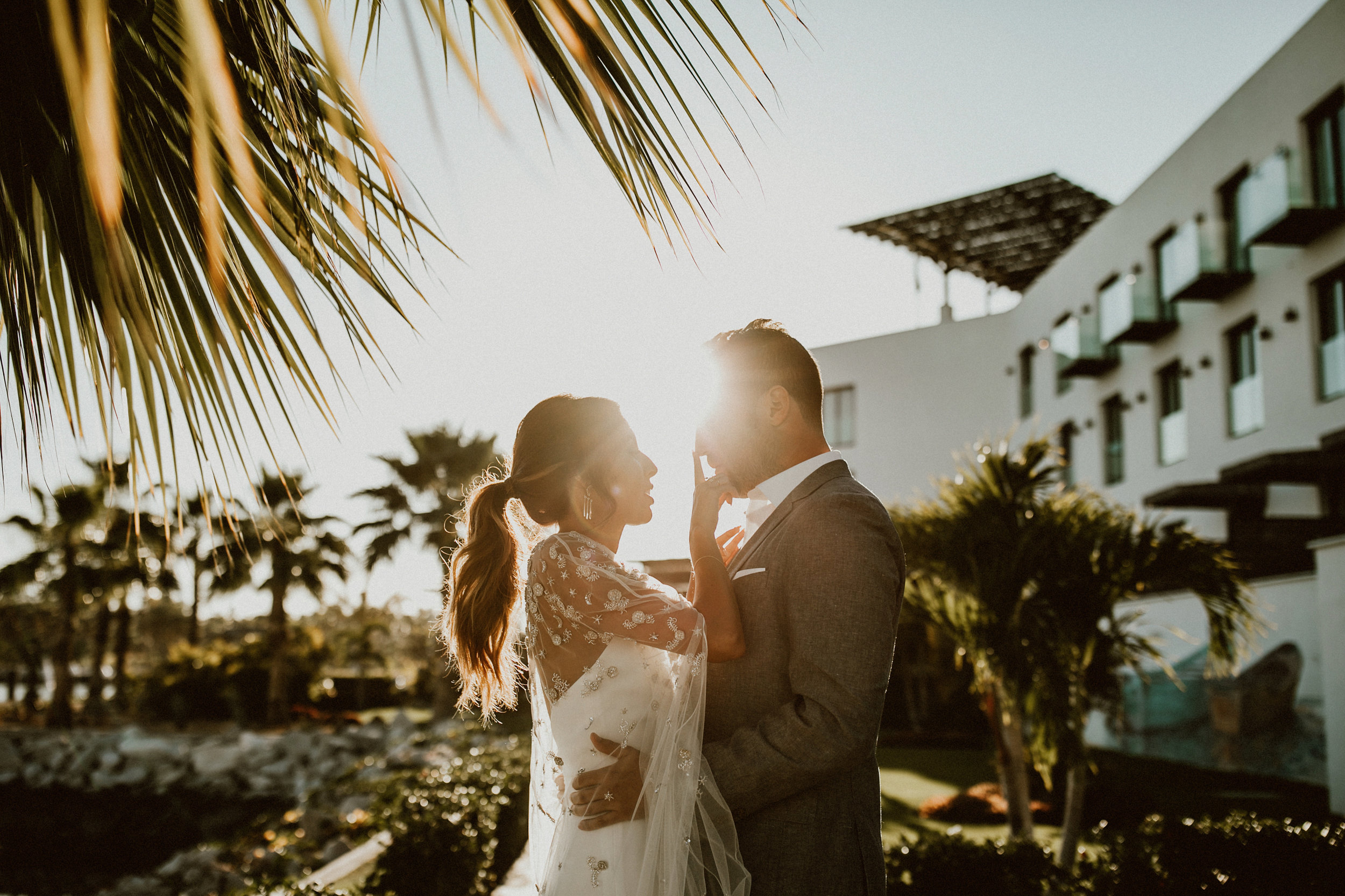 Ashley and Andy sharing a special moment at Hotel El Ganzo in Los Cabos, Mexico.