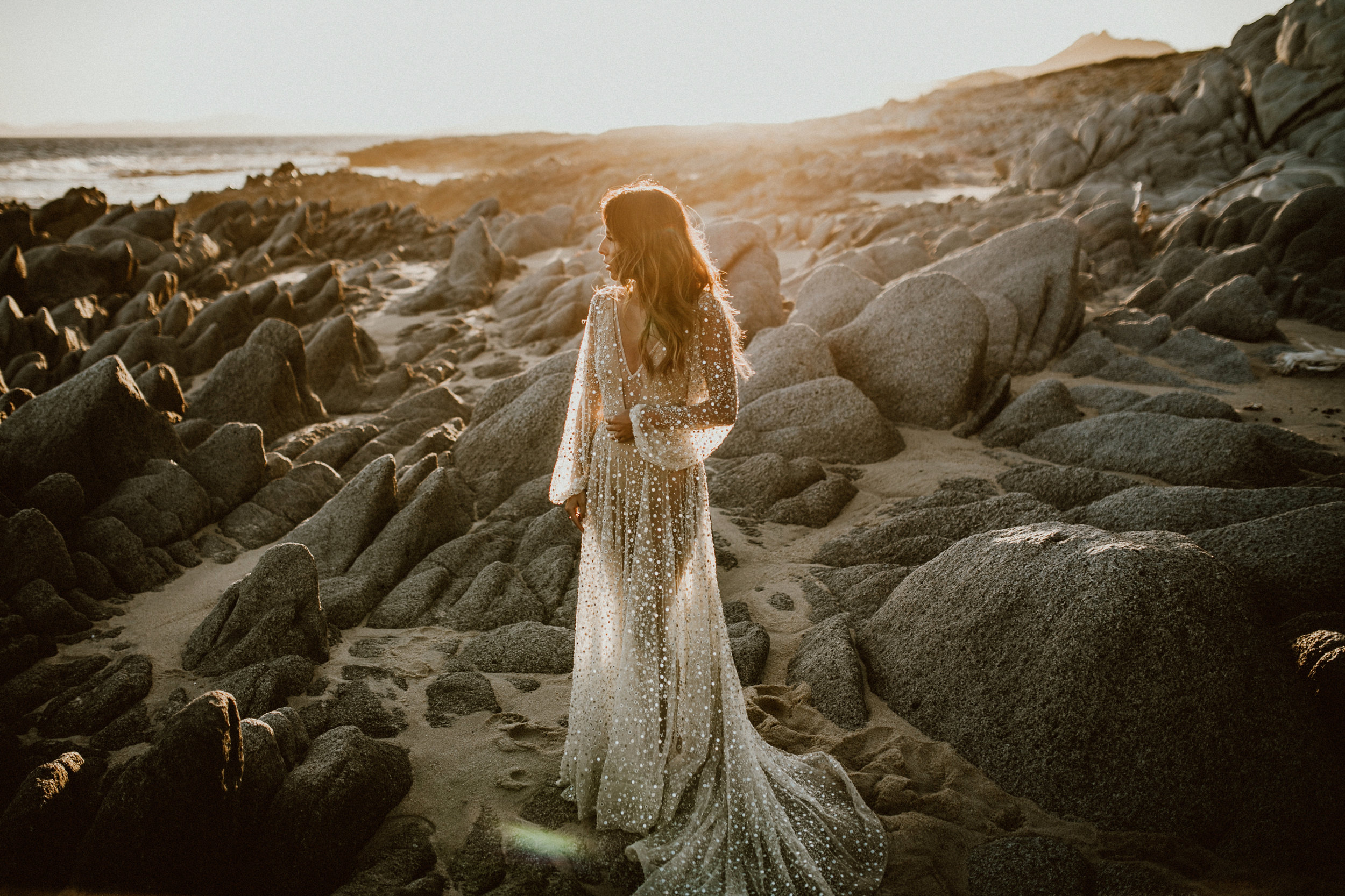 Nala Dress by Chosen by One Day Bridal - Glamorous Post Wedding Photoshoot in Los Cabos, Mexico   Everyday Pursuits Ashley + Andy