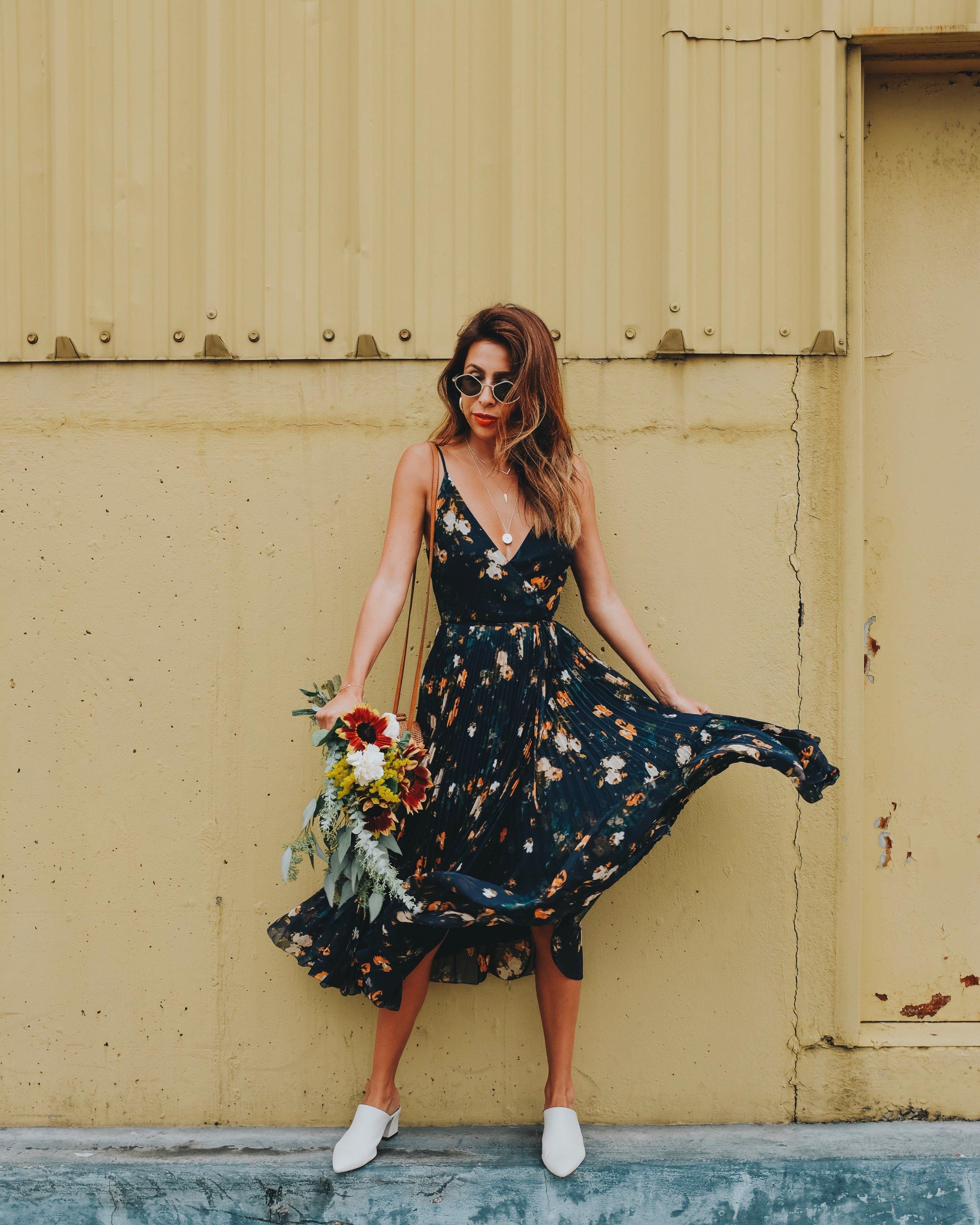 Aritzia Floral Dress + Uncommon James Jewelry - Nashville