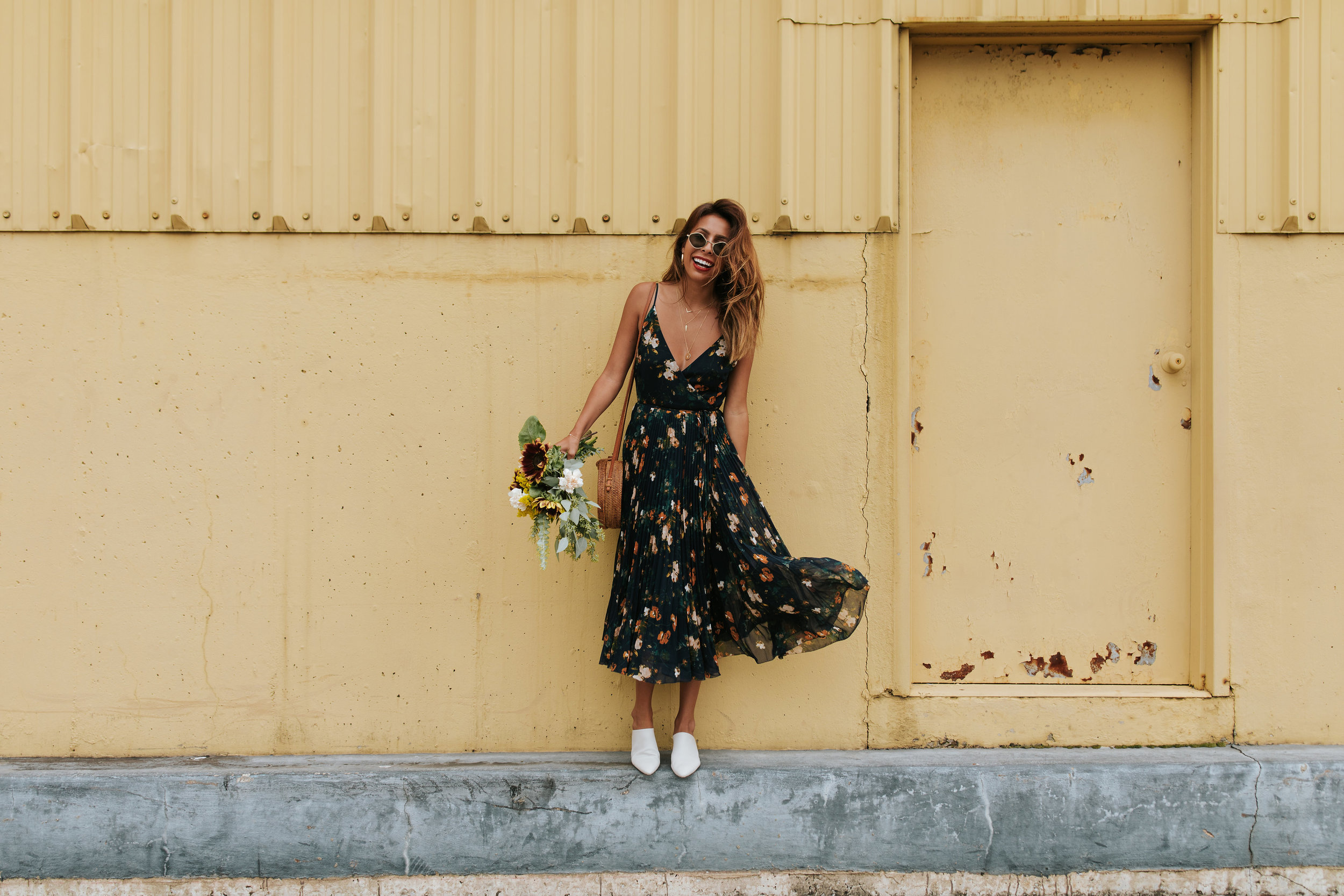 How to transition a floral dress to fall - Ashley from Everyday Pursuits