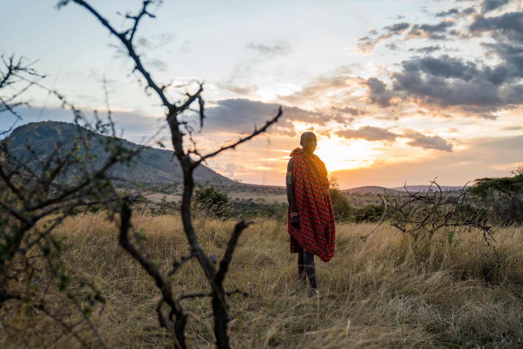 Maasai Guide in Kenya - Cottars 1920 Safari ph by Dave Krugman