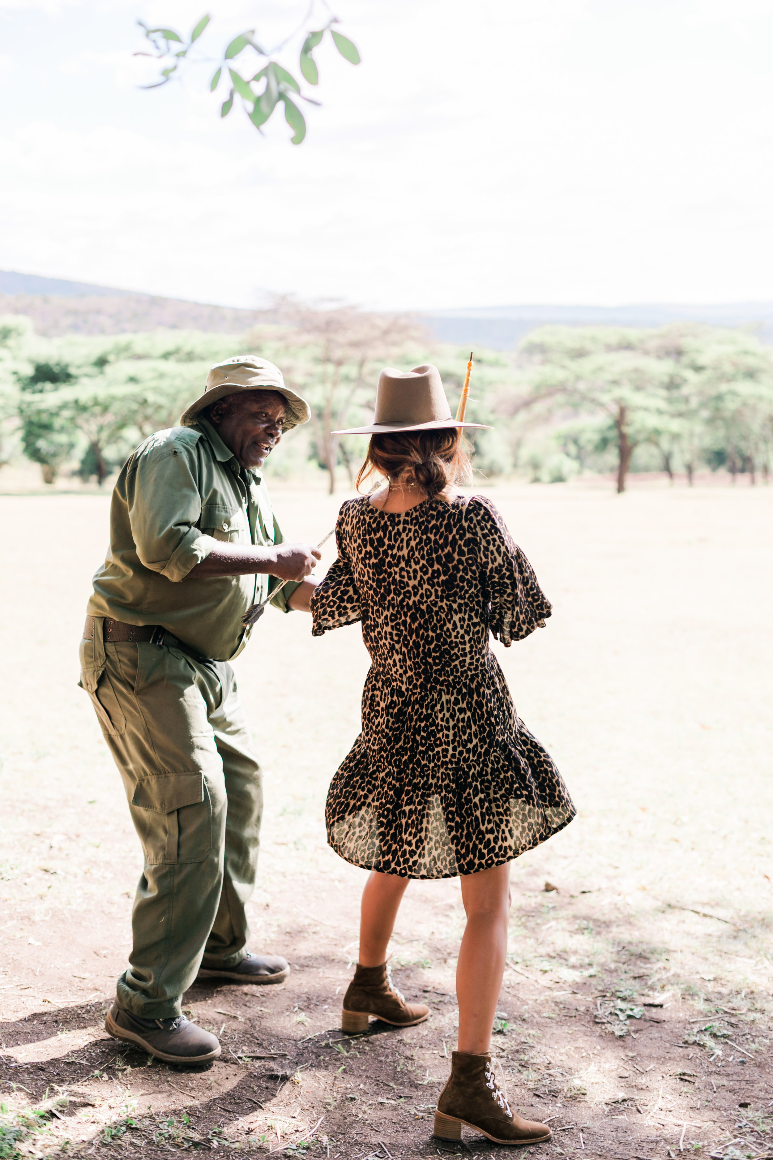What to wear on Safari - Faithfull The Brand Leopard dress ph. Valorie Darling