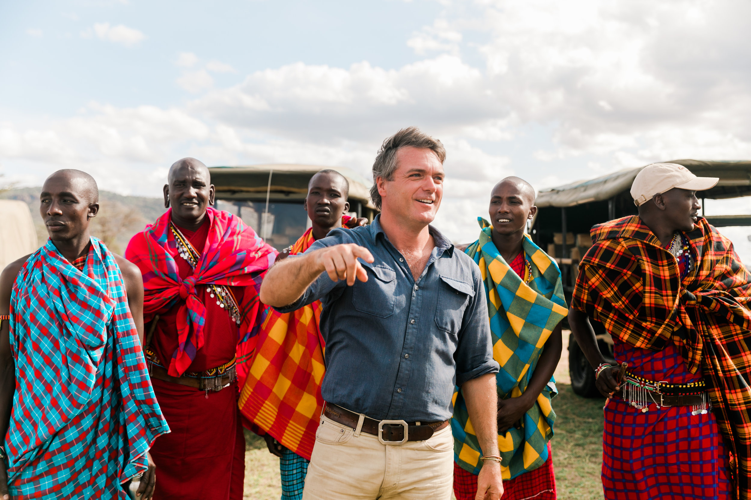 Maasai Greeting upon Arrival in Kenya Ph. Valorie Darling