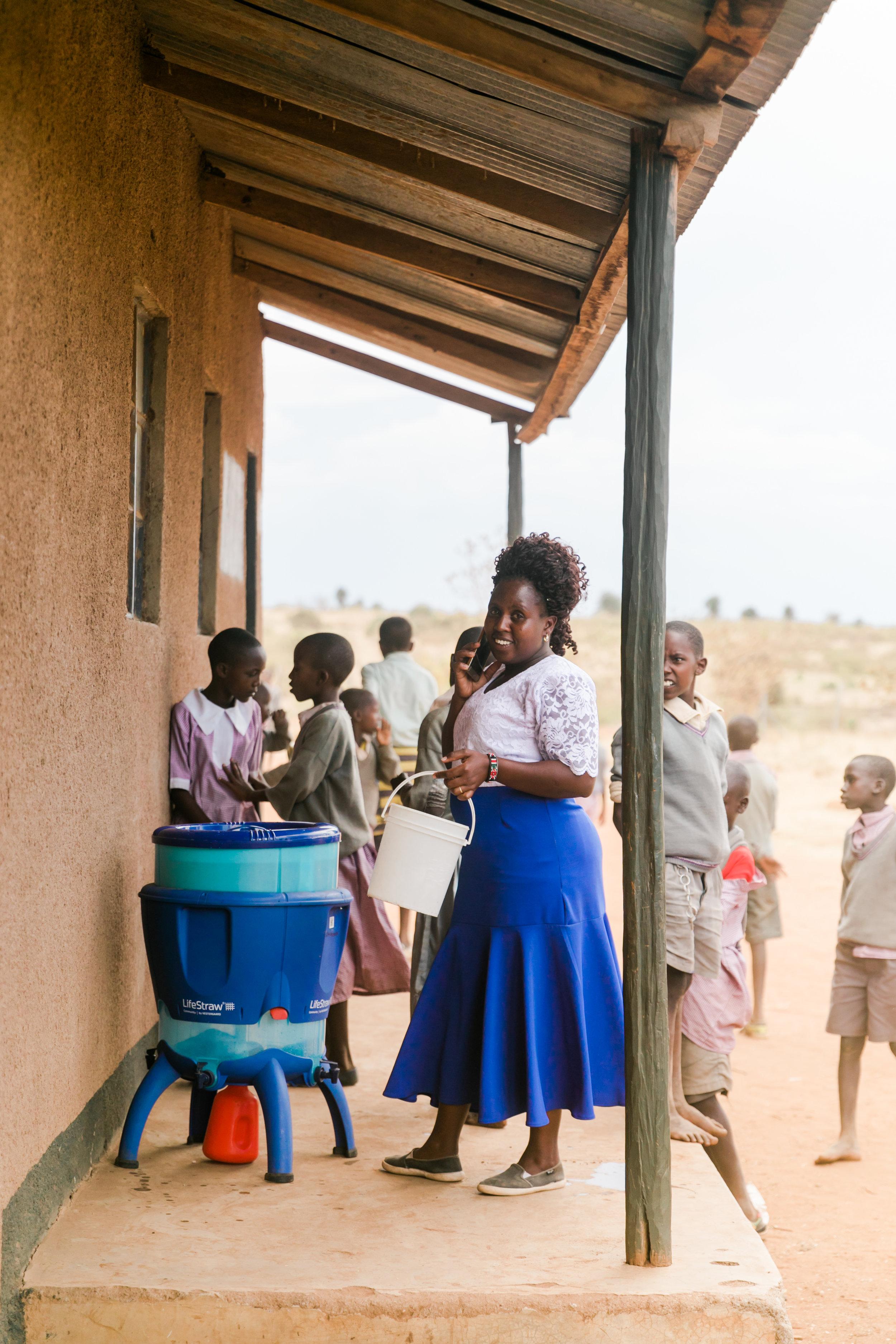 Maasai Mara School Visit - LifeStraw Water Ph. Valorie Darling