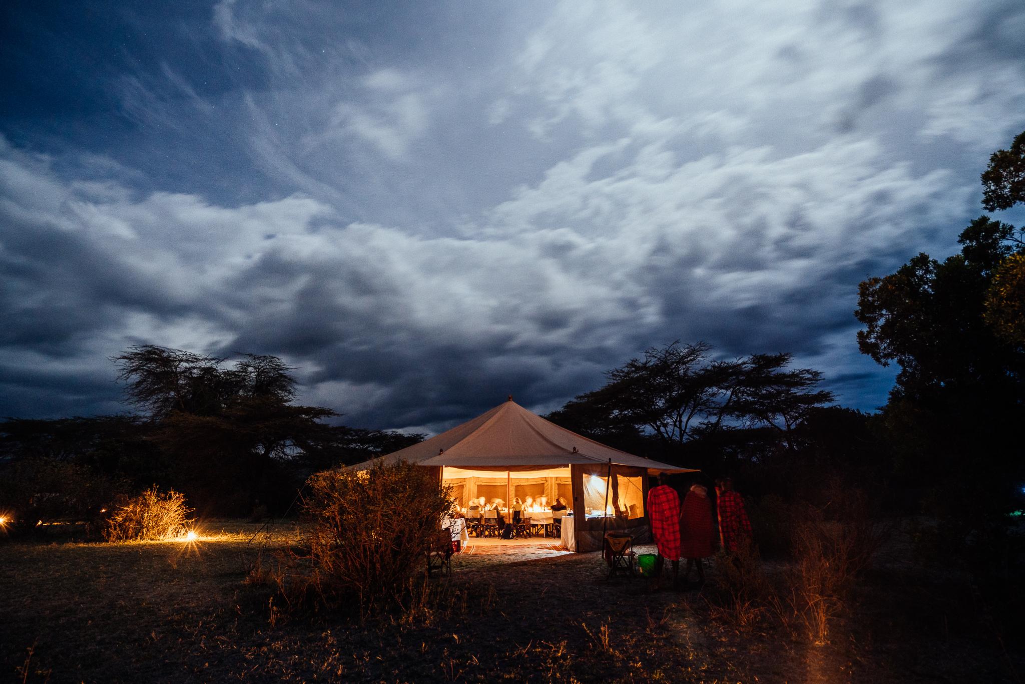 Fly Camp Dining + Bar Tent Ph. Dave Krugman
