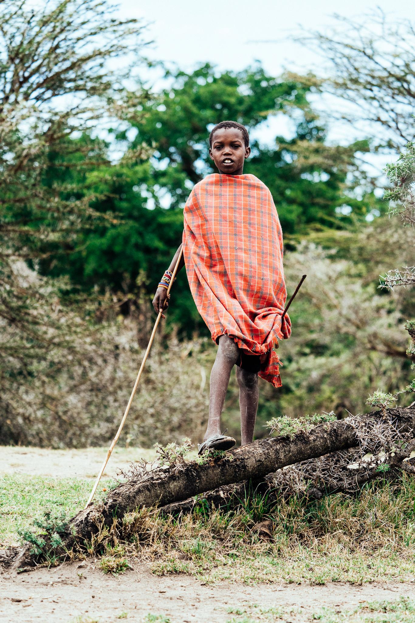 Maasai Boy out in the Mara Ph. Dave Krugman