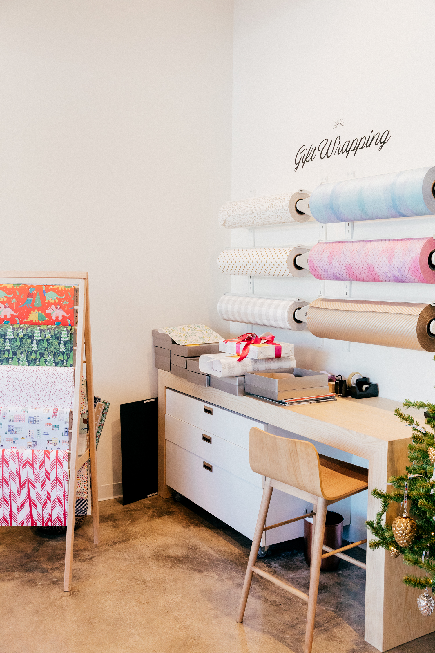 Nordstrom Local in Brentwood - Gift Wrapping Station