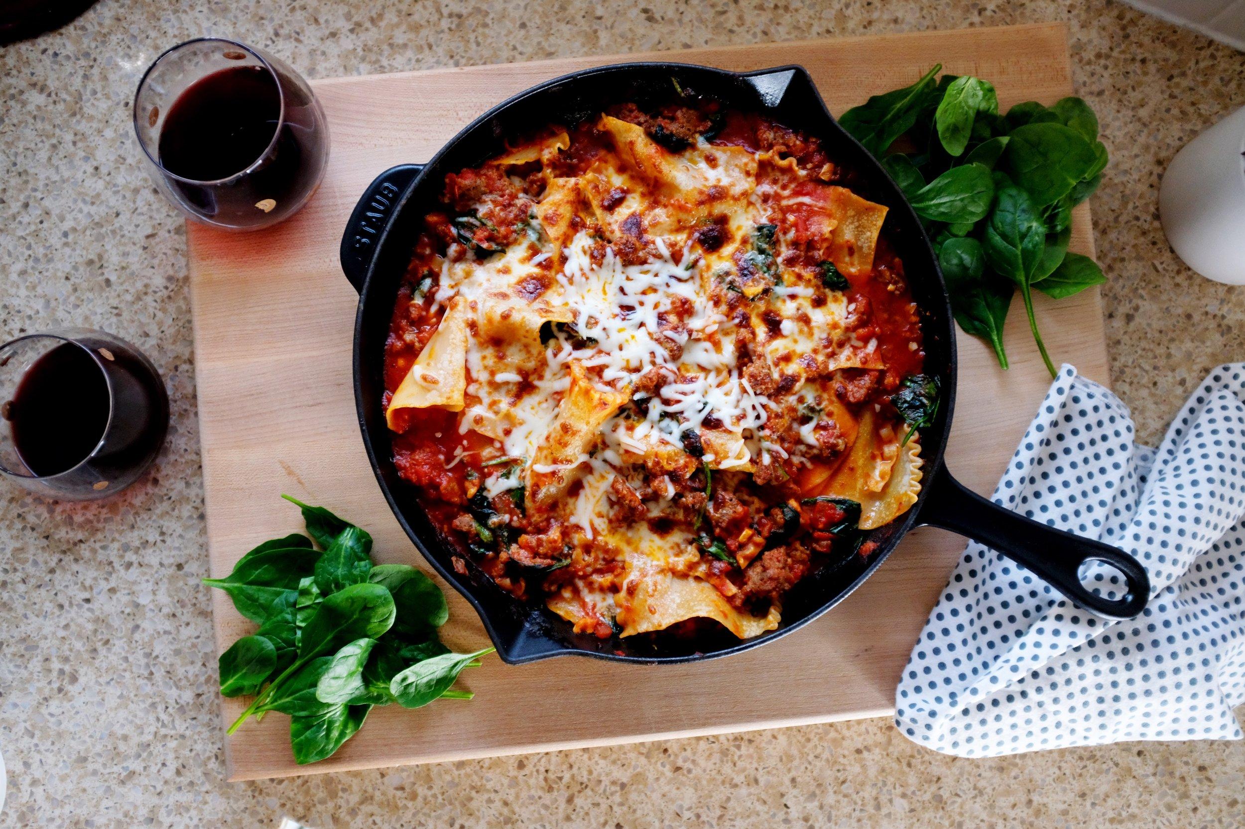 Easy Weeknight Lasagna Recipe - Gluten Free Option