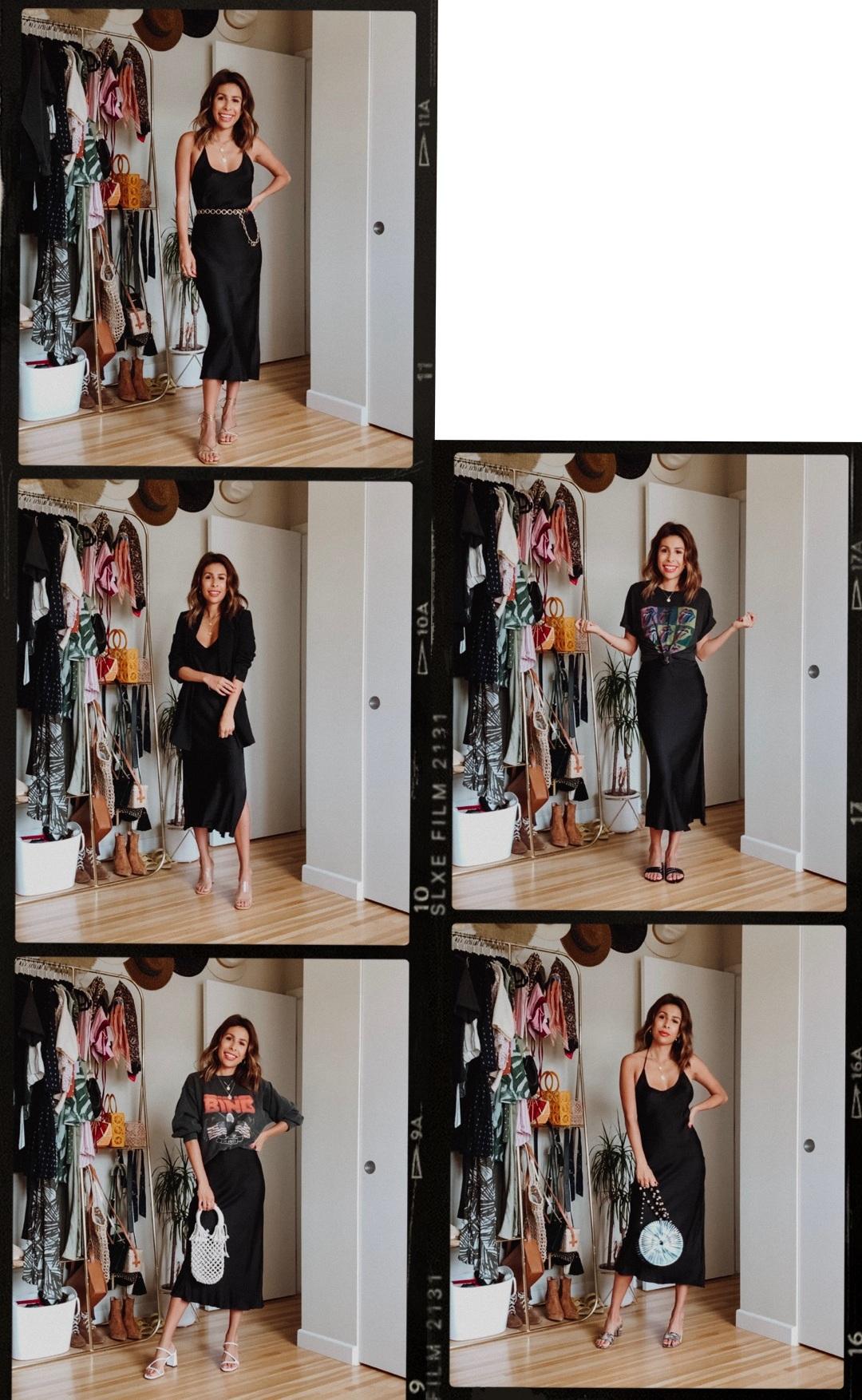 5 Ways to Style a Black Slip Dress