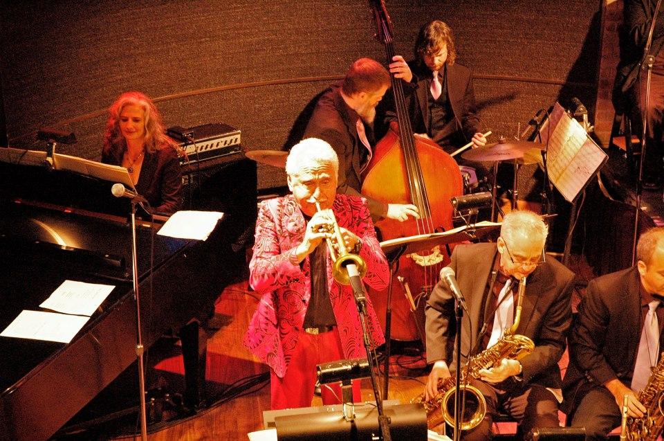 With Doc Severinsen at the Dakota Jazz Club, Minneapolis, MN. Mary Louise (p), Doc (tpt), Kevin Thomas (b), Stockton Helbing (d), Glenn Wilson (bari), Carlos Vega (alto).
