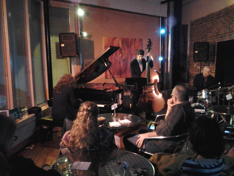 Mary Louise Knutson Trio, Studio 281, Atlanta, GA. Mary Louise Knutson (p), Tommy Sauter (b), and Justin Varnes (d).