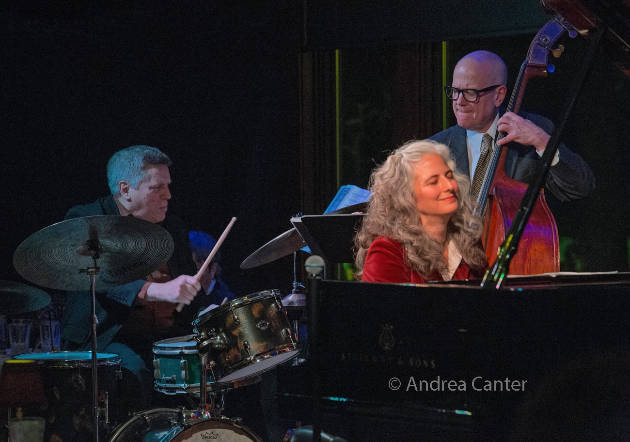 Mary Louise Knutson Trio, Dunsmore Room at Crooners, Minneapolis, MN. Phil Hey (d), Mary Louise Knutson (p), and Gordon Johnson (b).