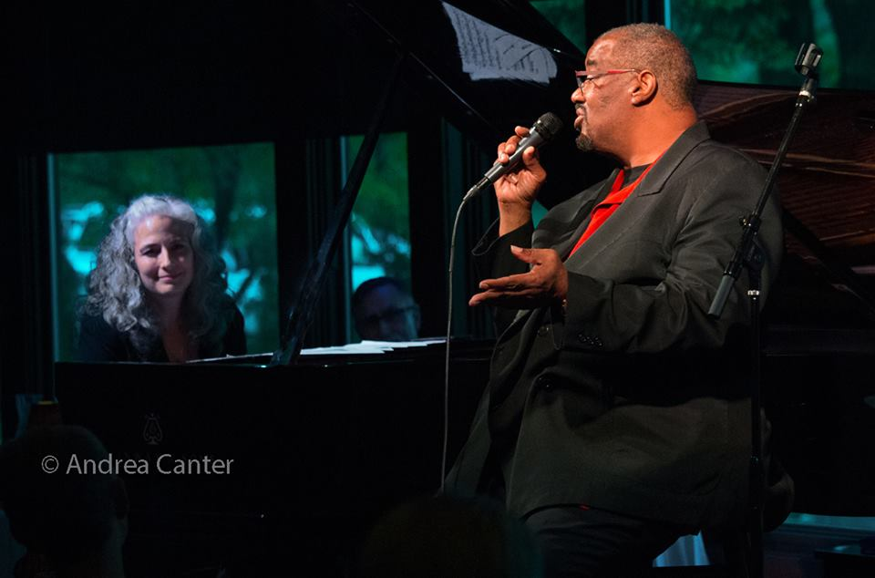 Pianist Mary Louise Knutson with vocalist Kevin Mahogany, Dunsmore Room at Crooners, Minneapolis, MN.