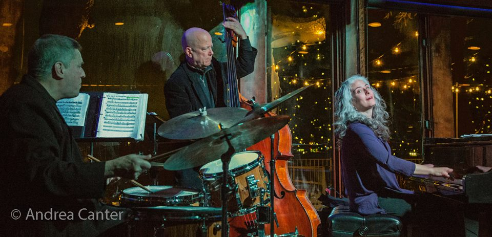 Mary Louise Knutson Trio, Dunsmore Room at Crooners, Minneapolis, MN. Phil Hey (d), Gordon Johnson (b), and Mary Louise Knutson (p).