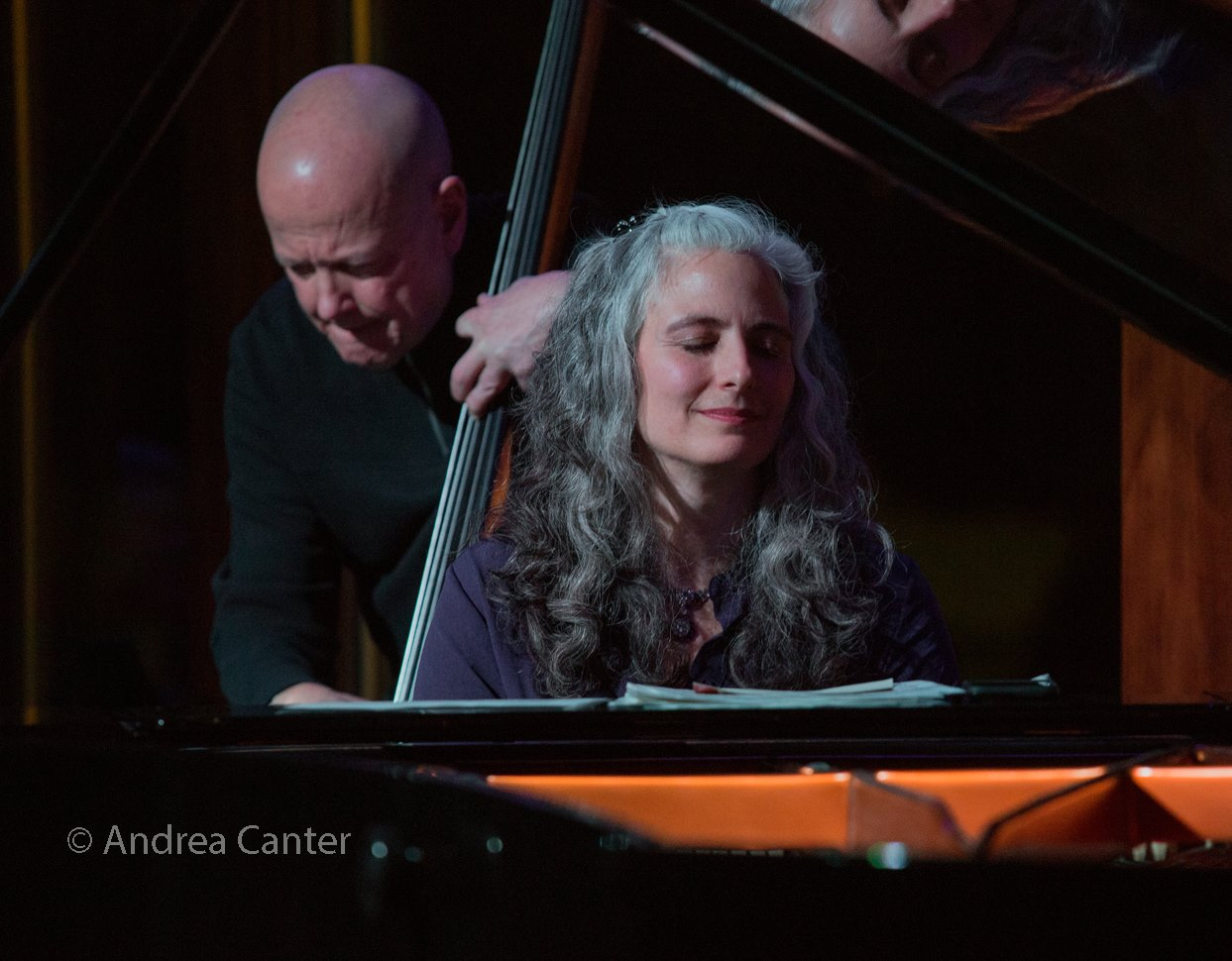 Mary Louise Knutson Trio, Dunsmore Room at Crooners, Minneapolis, MN. Gordon Johnson (b) and Mary Louise Knutson (p).