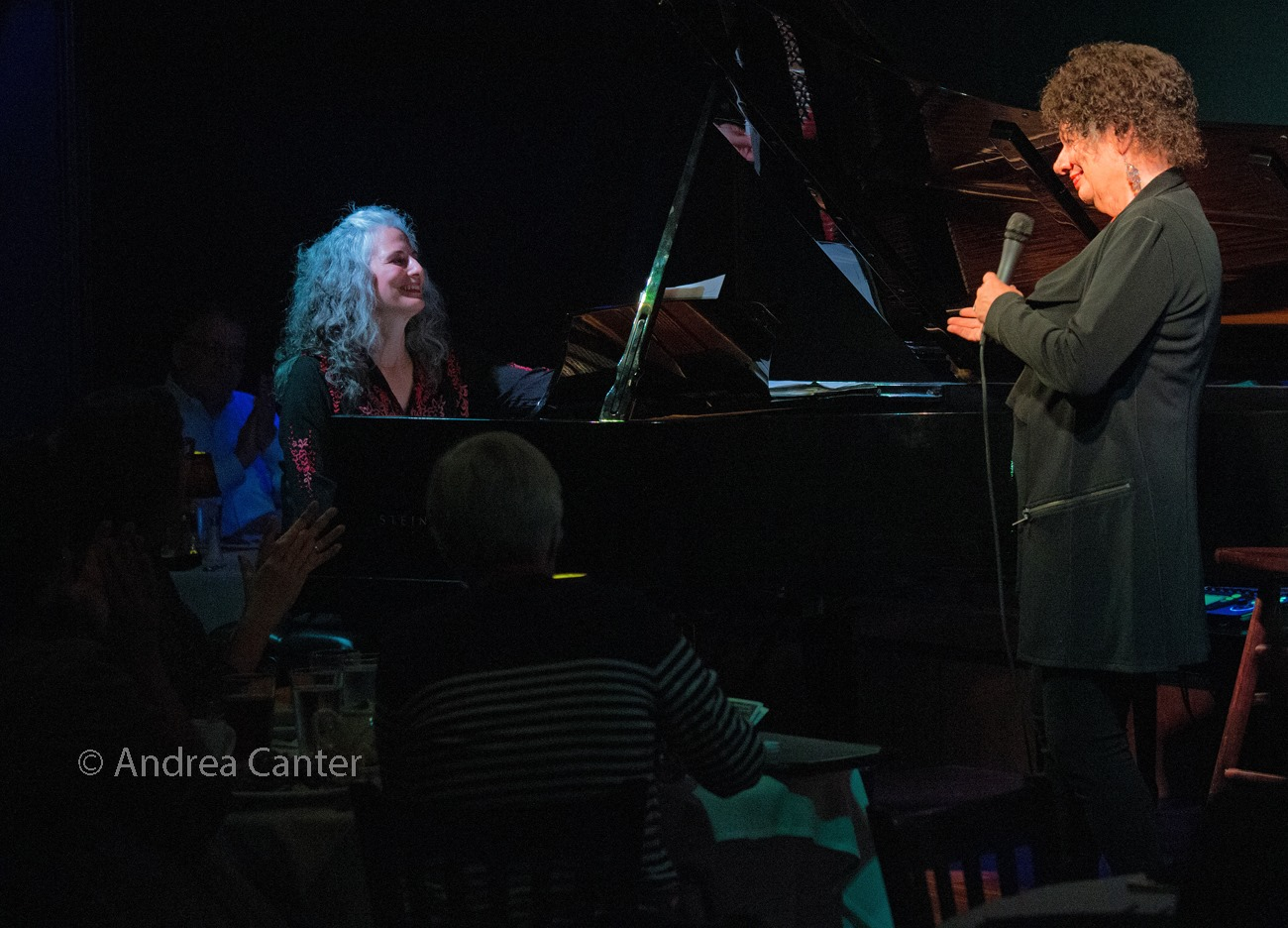 Pianist Mary Louise Knutson and vocalist Jay Clayton, Dunsmore Room at Crooners, Minneapolis, MN.