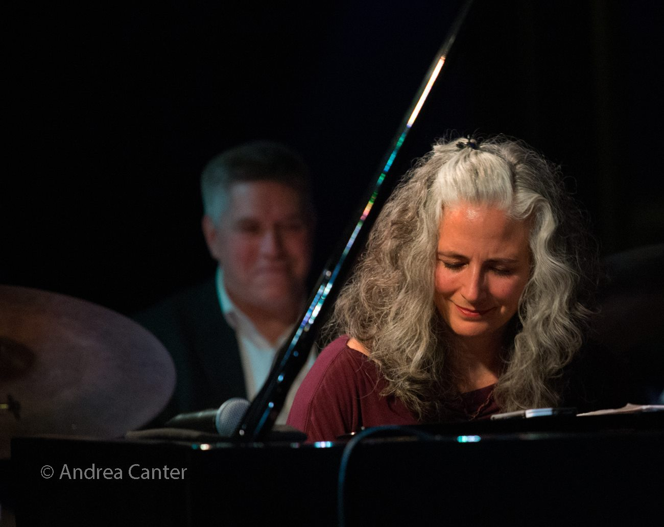 Mary Louise Knutson Trio, Dunsmore Room at Crooners, Minneapolis, MN. Phil Hey (d) and Mary Louise Knutson (p).