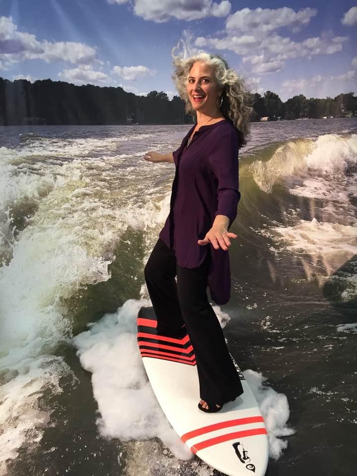 Pianist-composer-surfer Mary Louise Knutson, Wayzata Marine, Wayzata, MN