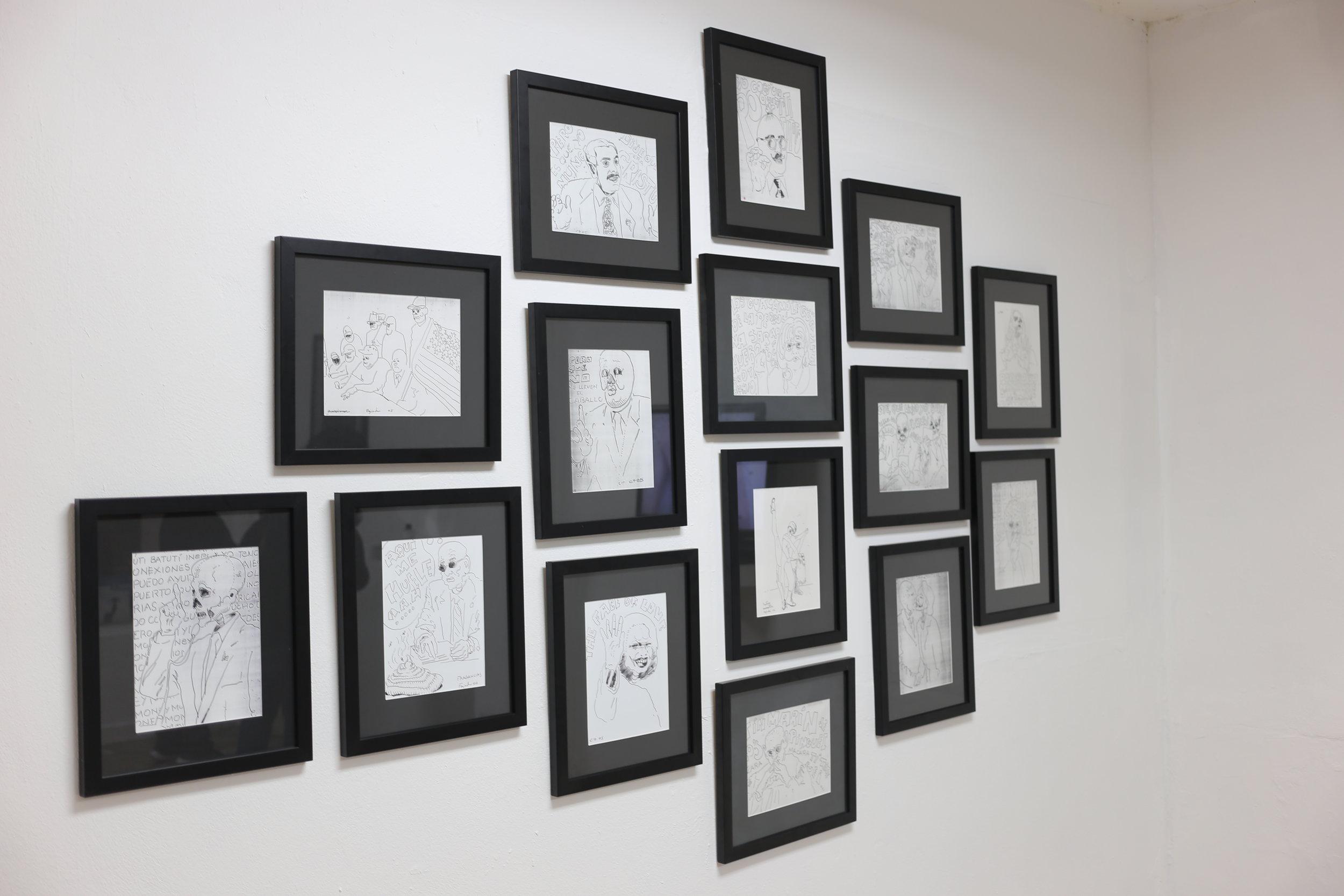 """Carlos Fajardo / Serie de dibujos coloniales, 2005 / Dibujo / 14.5"""" x 17"""""""