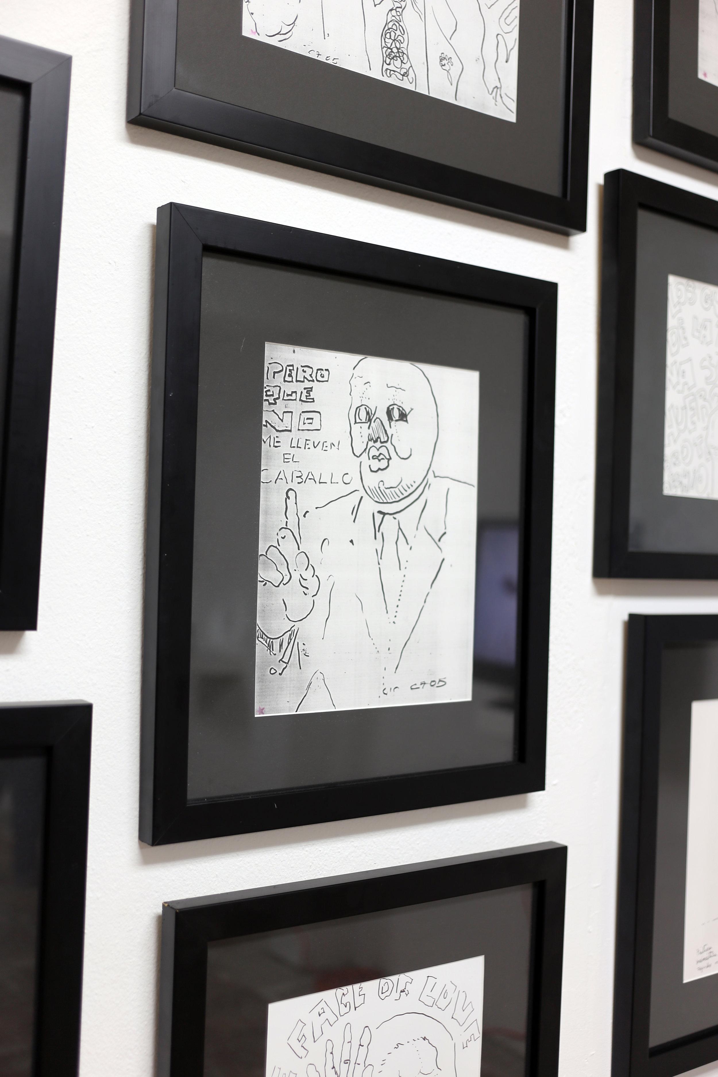 """Carlos Fajardo / (Detalle) Serie de dibujos coloniales, 2005 / Dibujo / 14.5"""" x 17"""""""