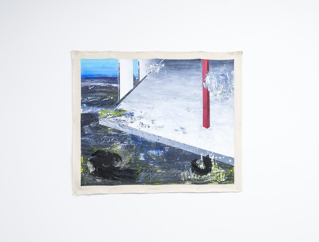 "Paradox of The New Landscape II, 2018 / óleo sobre lienzo / 39"" x 46"" in."