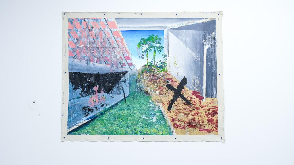 "Paradox of The New Landscape III, 2018 / óleo sobre lienzo / 48"" x 60"" in."