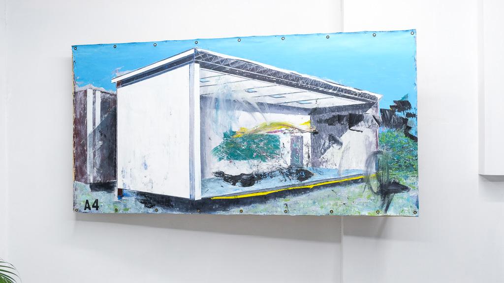 "Paradox of The New Landscape III ,2018 / óleo sobre lienzo / 48"" x 60"" in."