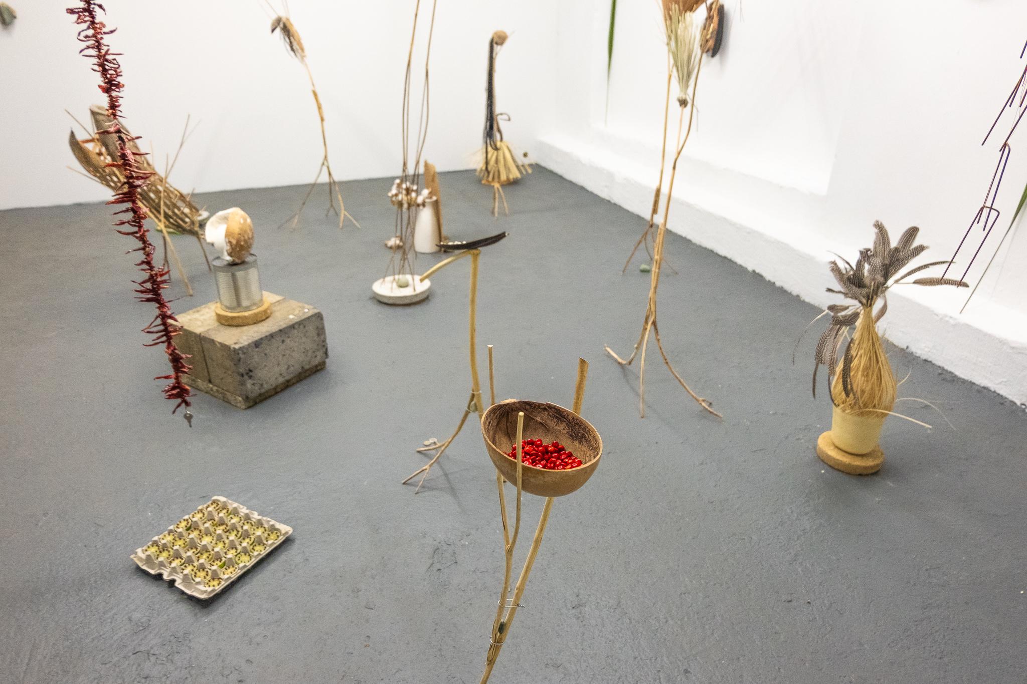 Vista de la muestra La fortuita armonía de cosas disímiles de Michael Linares