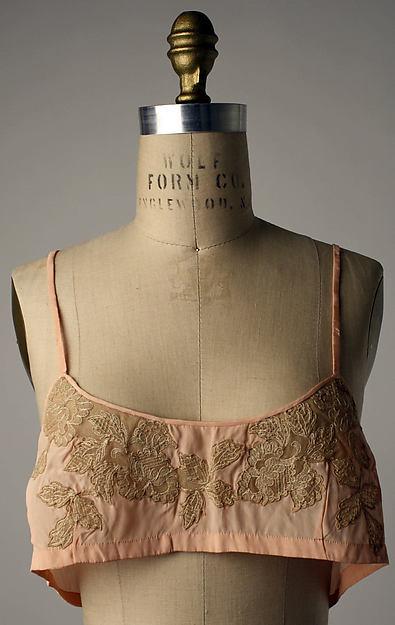 Brassiere | 1920s | French | silk, cotton