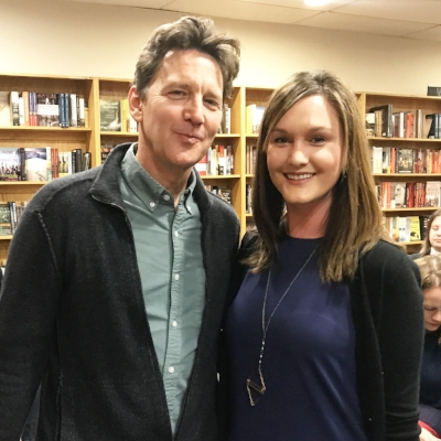 With Andrew McCarthy at The Book Stall