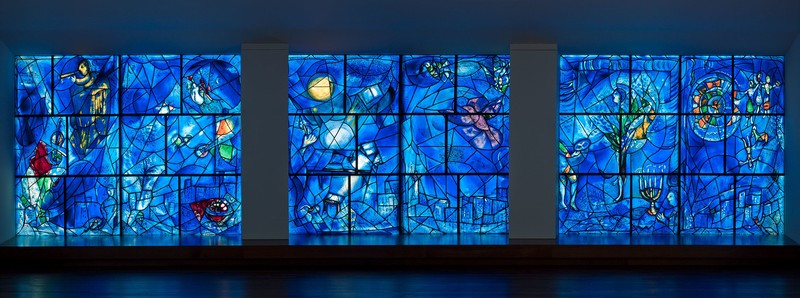 America Windows by Marc Chagall - Photo from the Art Institute of Chicago