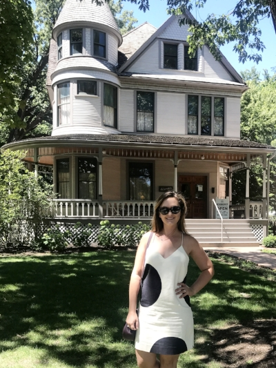 Ashley Hasty at Ernest Hemingway's birthplace in Oak Park, IL