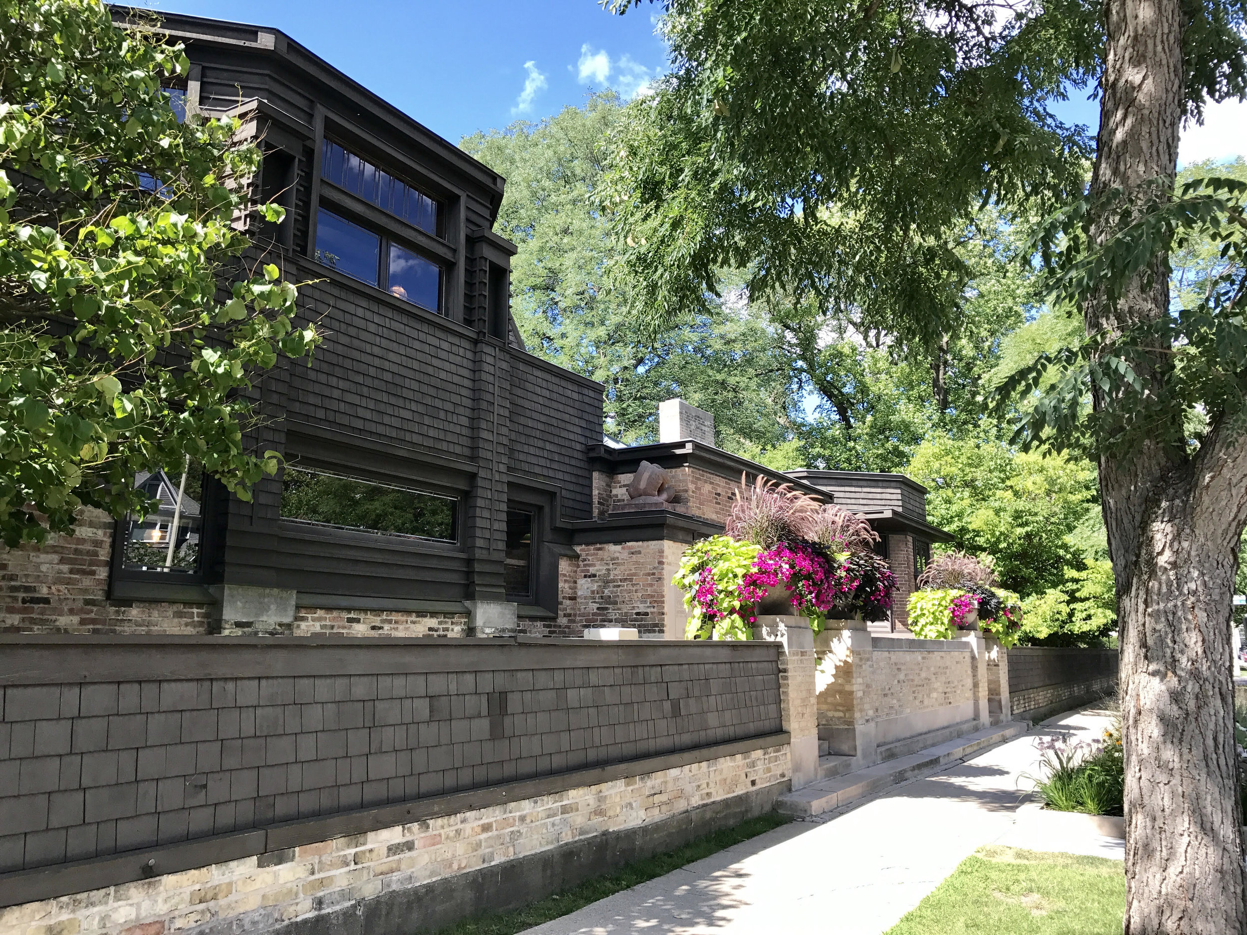 Frank Lloyd Wright's studio in Oak Park, IL