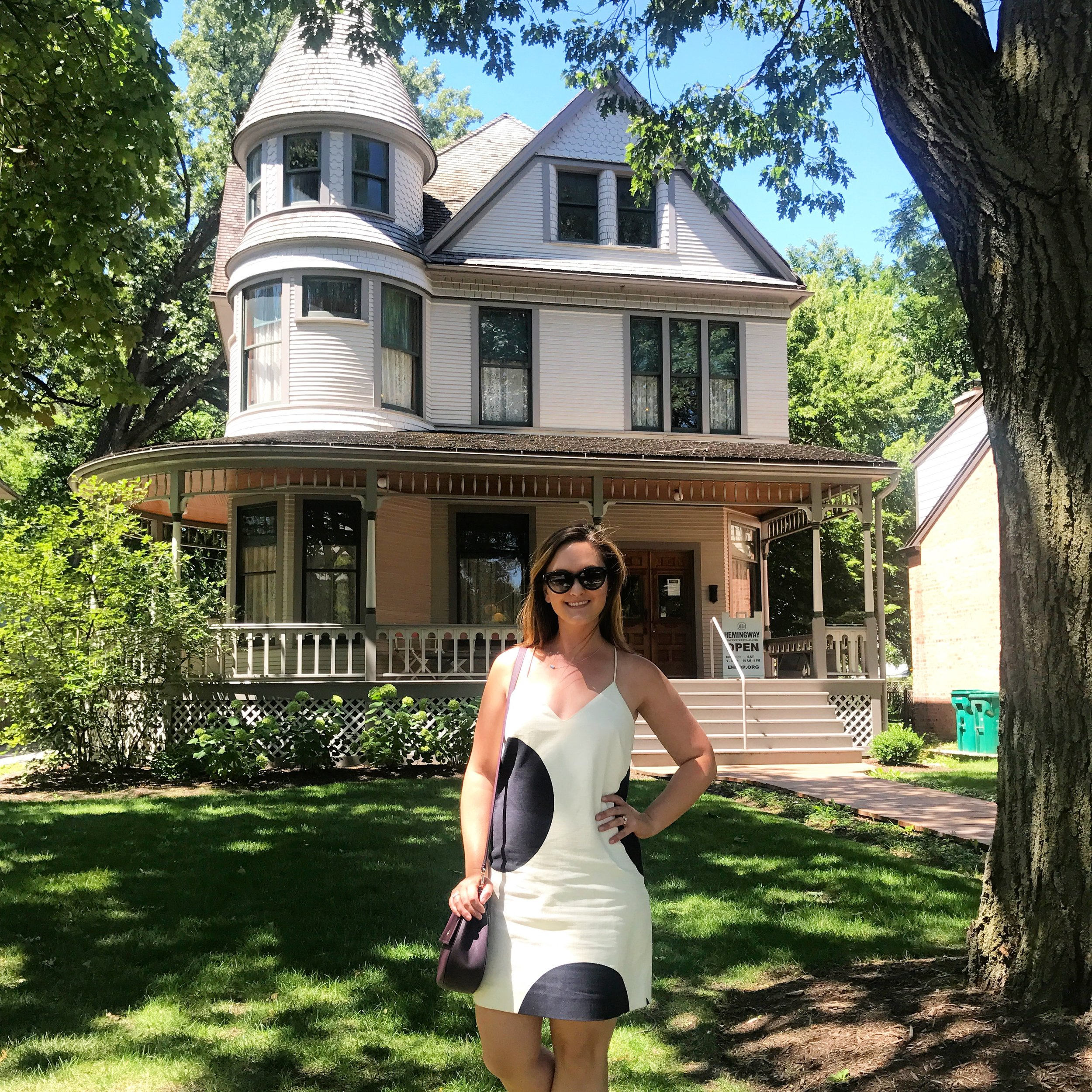 5 Ways All Book-Lovers Should Treat Themselves on 'Treat Yo Self' Day: 4. Visit a literary destination (here I am at Ernest Hemingway's childhood home.