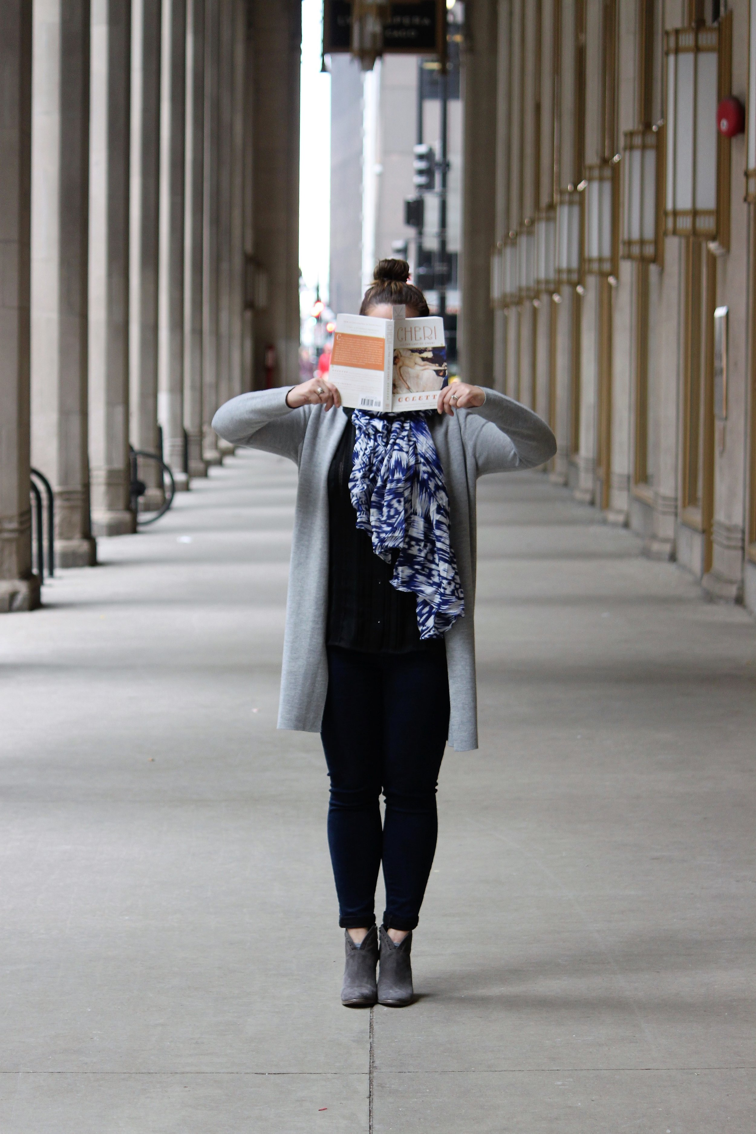 Reading Cheri and The Last of Cheri by Colette at the Civic Opera House in Chicago, IL