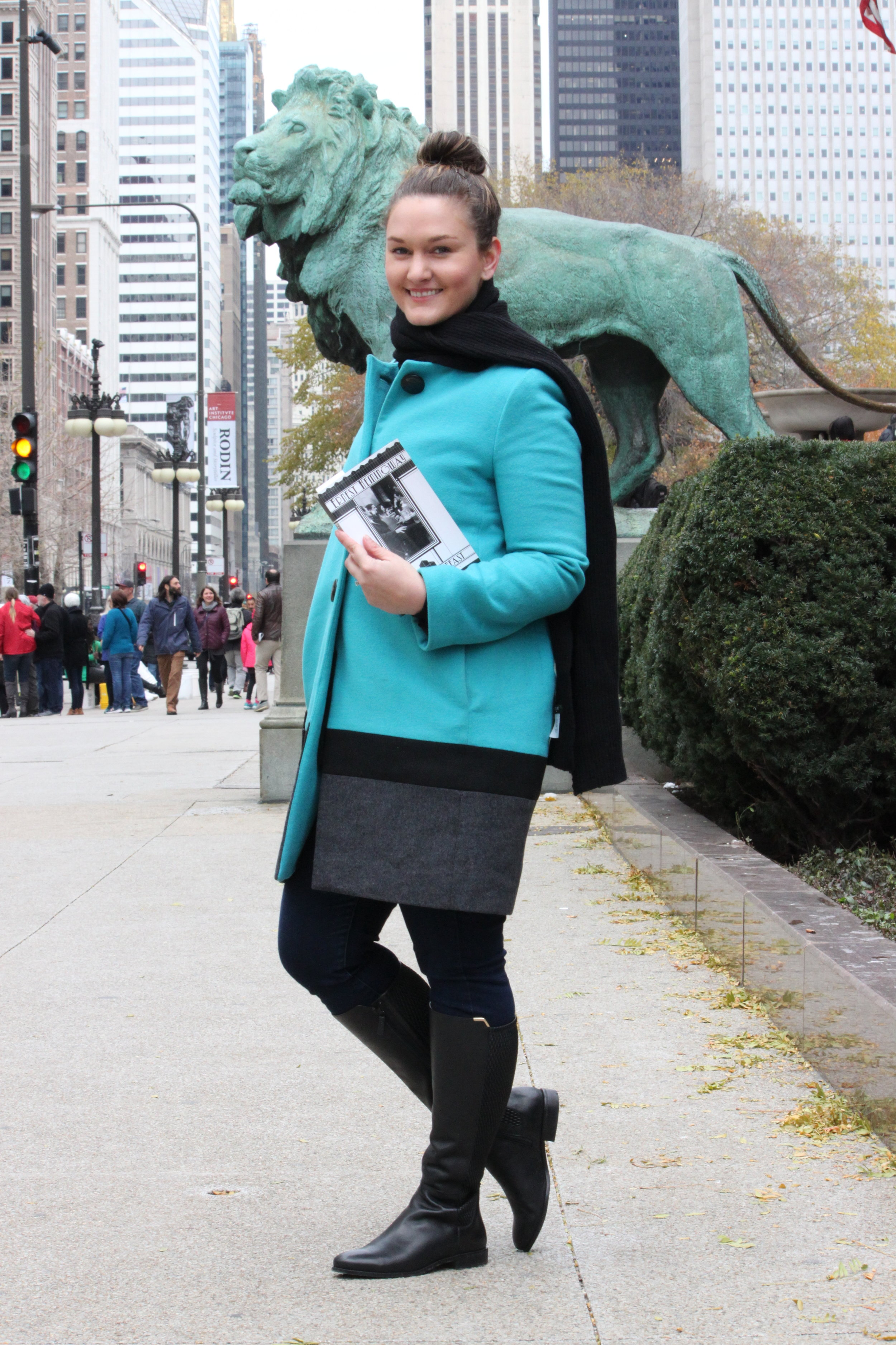 Reading A Moveable Feast by Ernest Hemingway at the Art Institute of Chicago