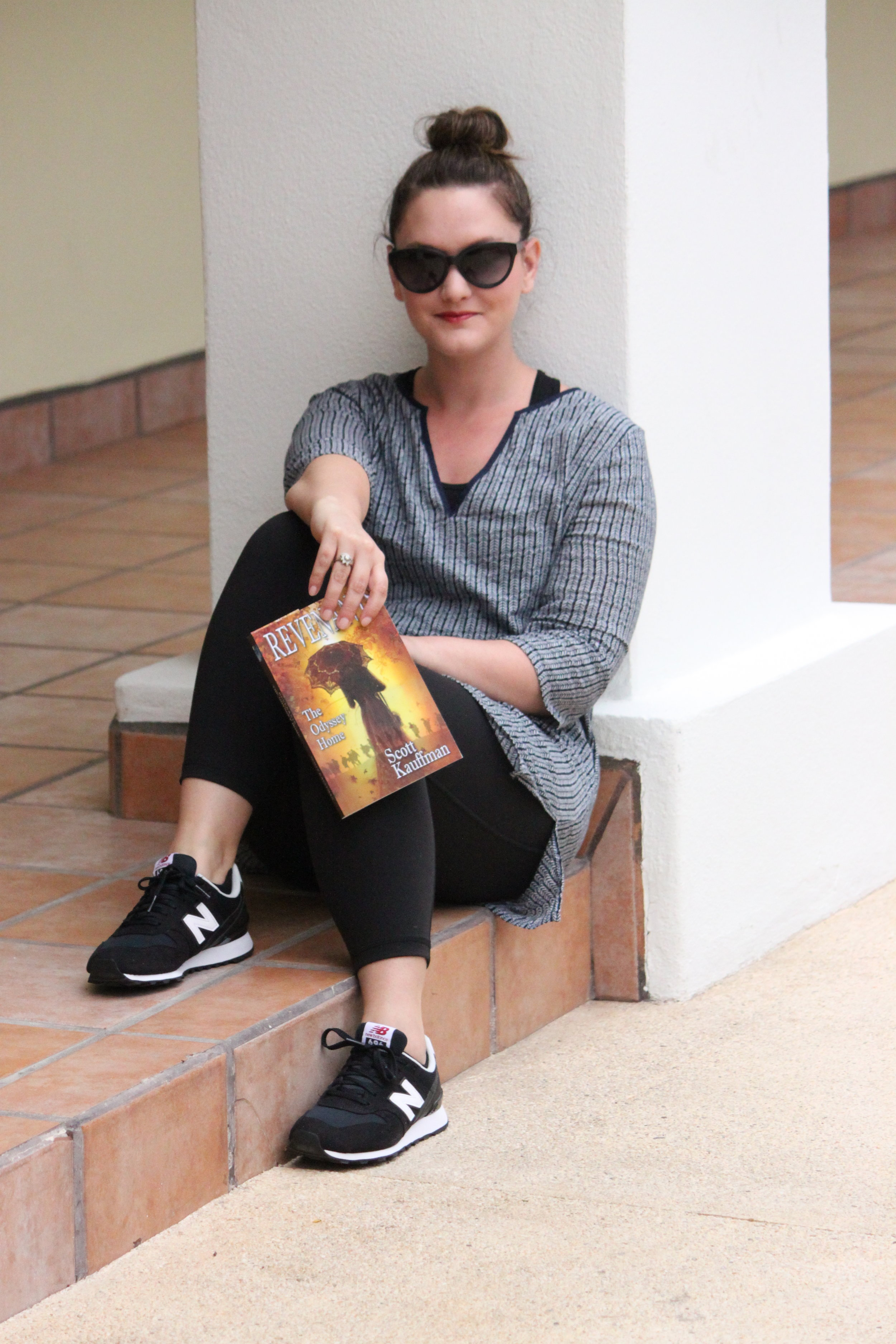 Reading Revenants by Scott Kauffman at Sirena del Mar in Cabo San Lucas, Mexico